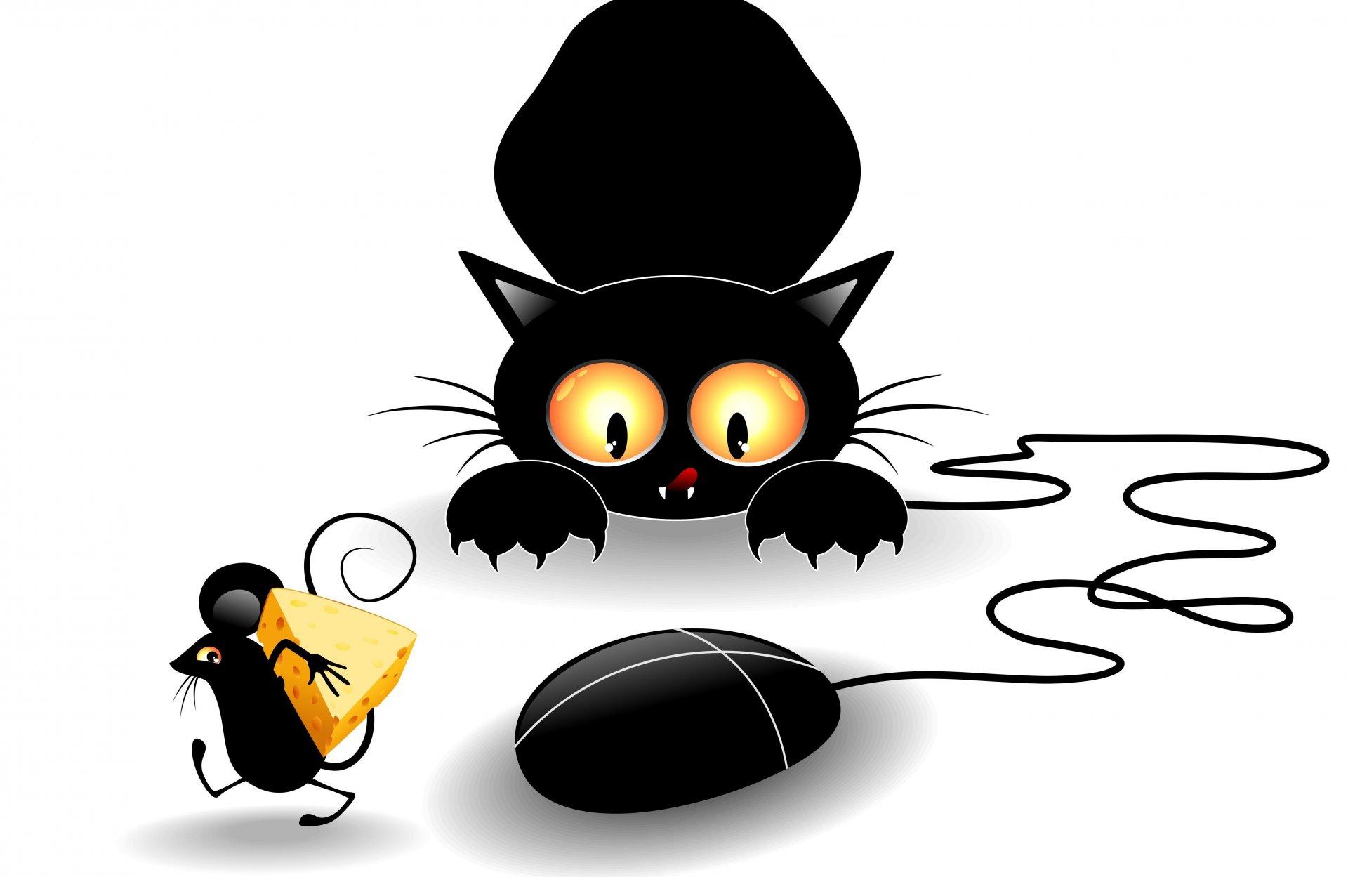 Психологов, смешные мультяшные котики и мышки