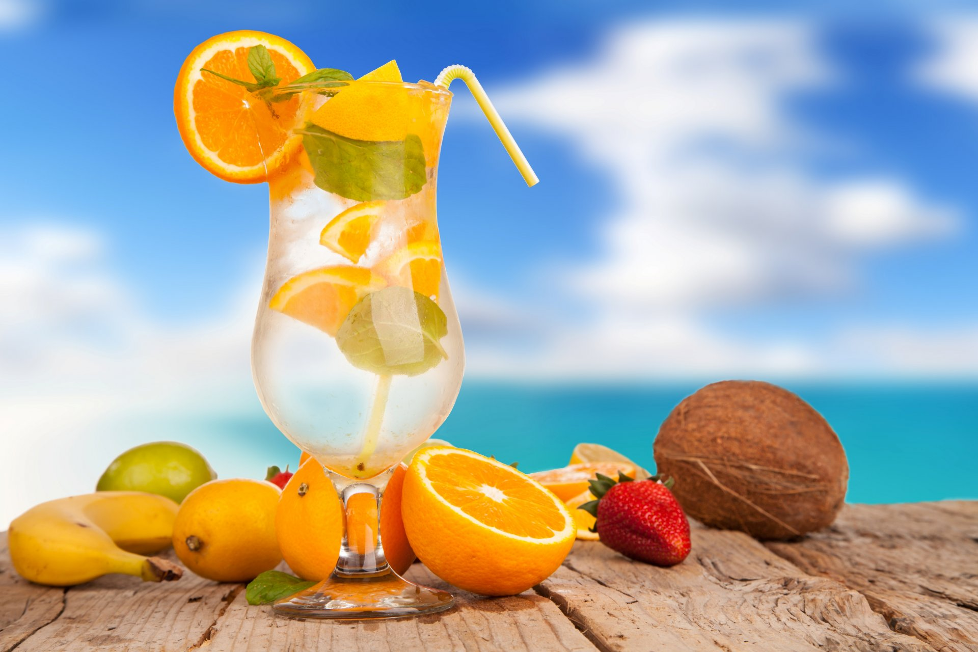 Обои апельсин, цитрусы, виноград, напиток, сок. Еда foto 14