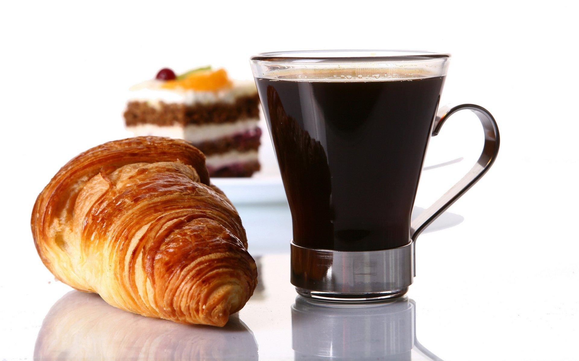 Кофе чашки кроасаны бесплатно