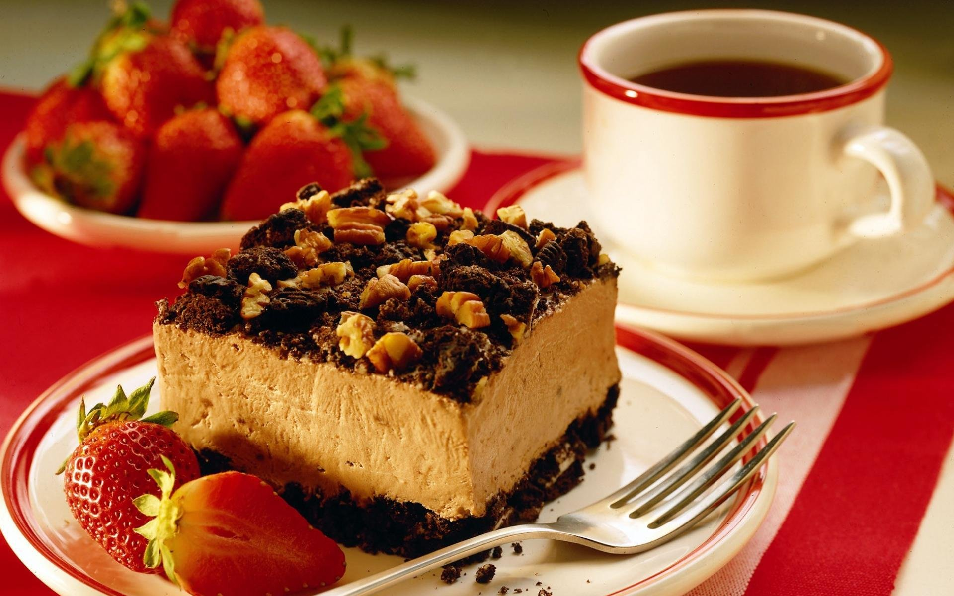 Торт и кофе картинка