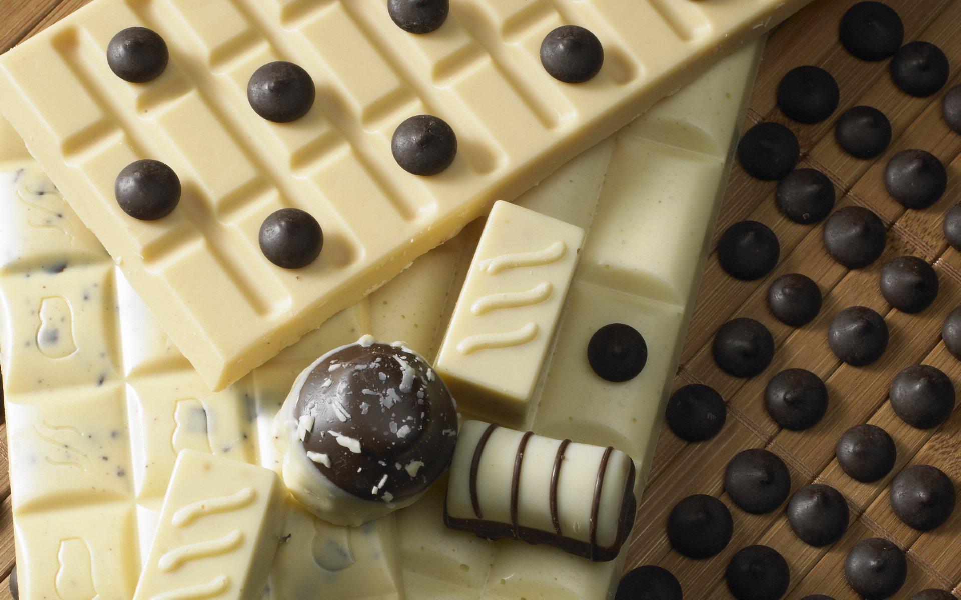 Открытки, открытка с белым шоколадом