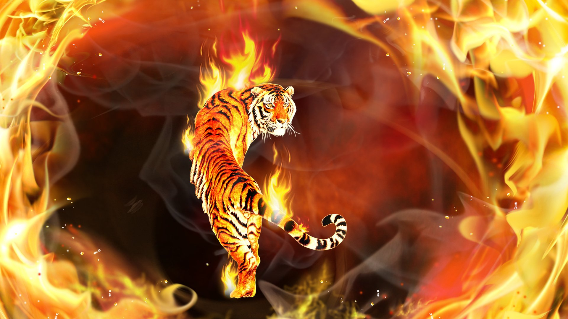 Картинки по запросу тигр огонь