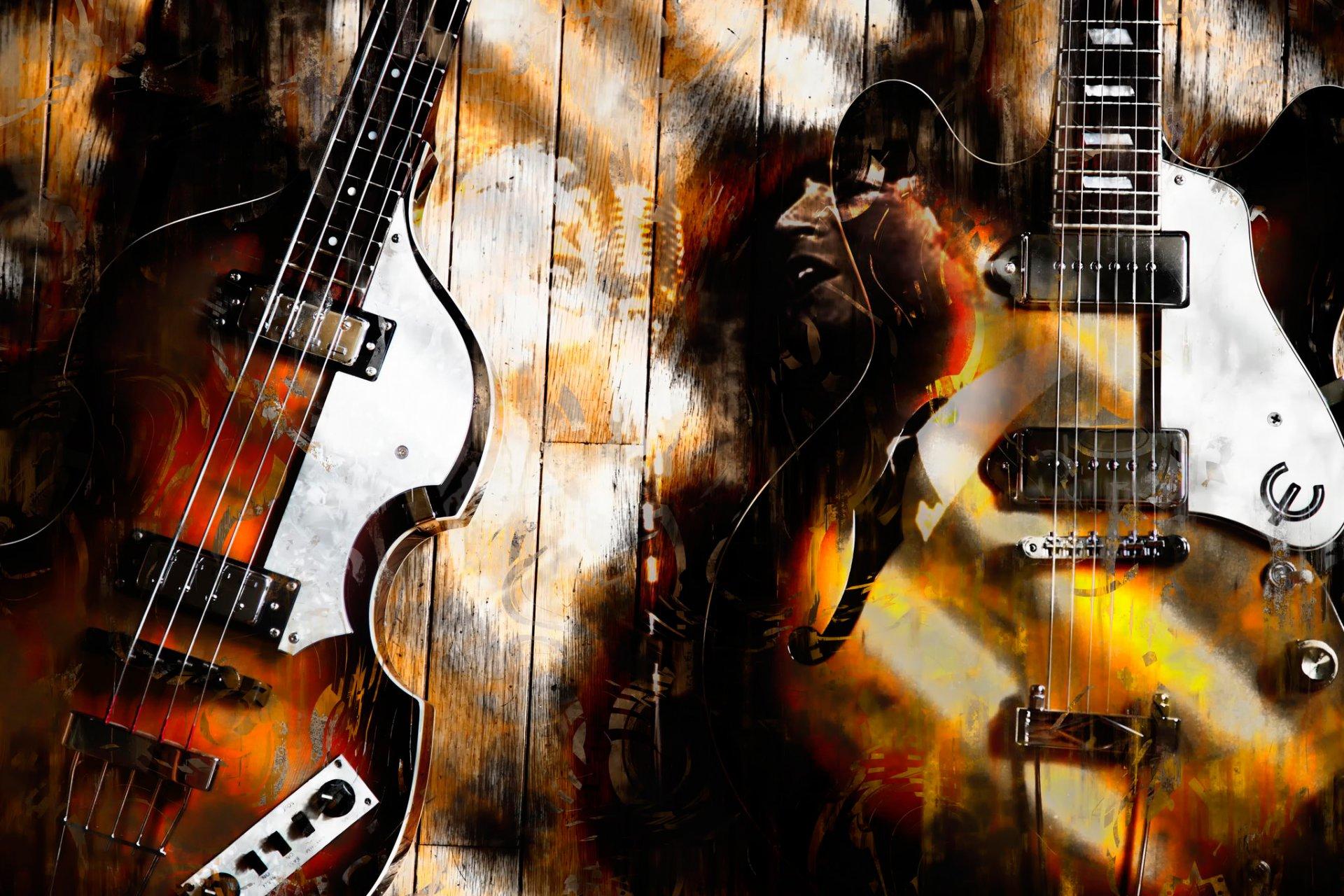 Постер с гитаристами