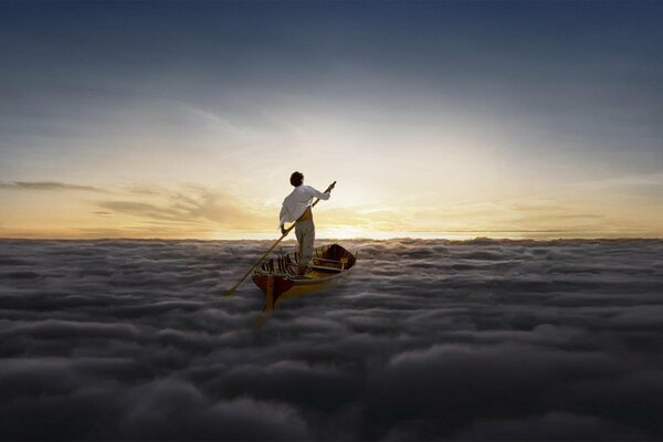 Pink Floyd альбом группа рок Rock Endless River лодка