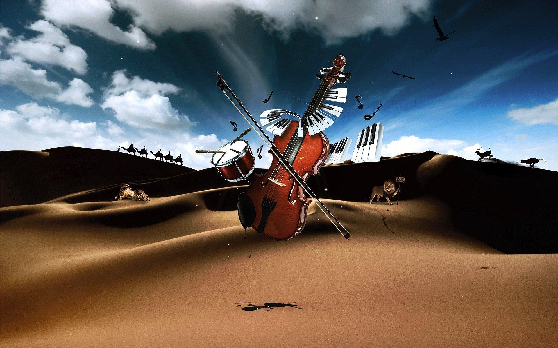 Девушка со скрипкой абстракция  № 2052328 бесплатно