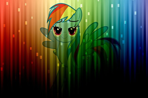 my little pony pony mlp rainbow dash rainbow dash color colors цвет цвета радуга стена wall