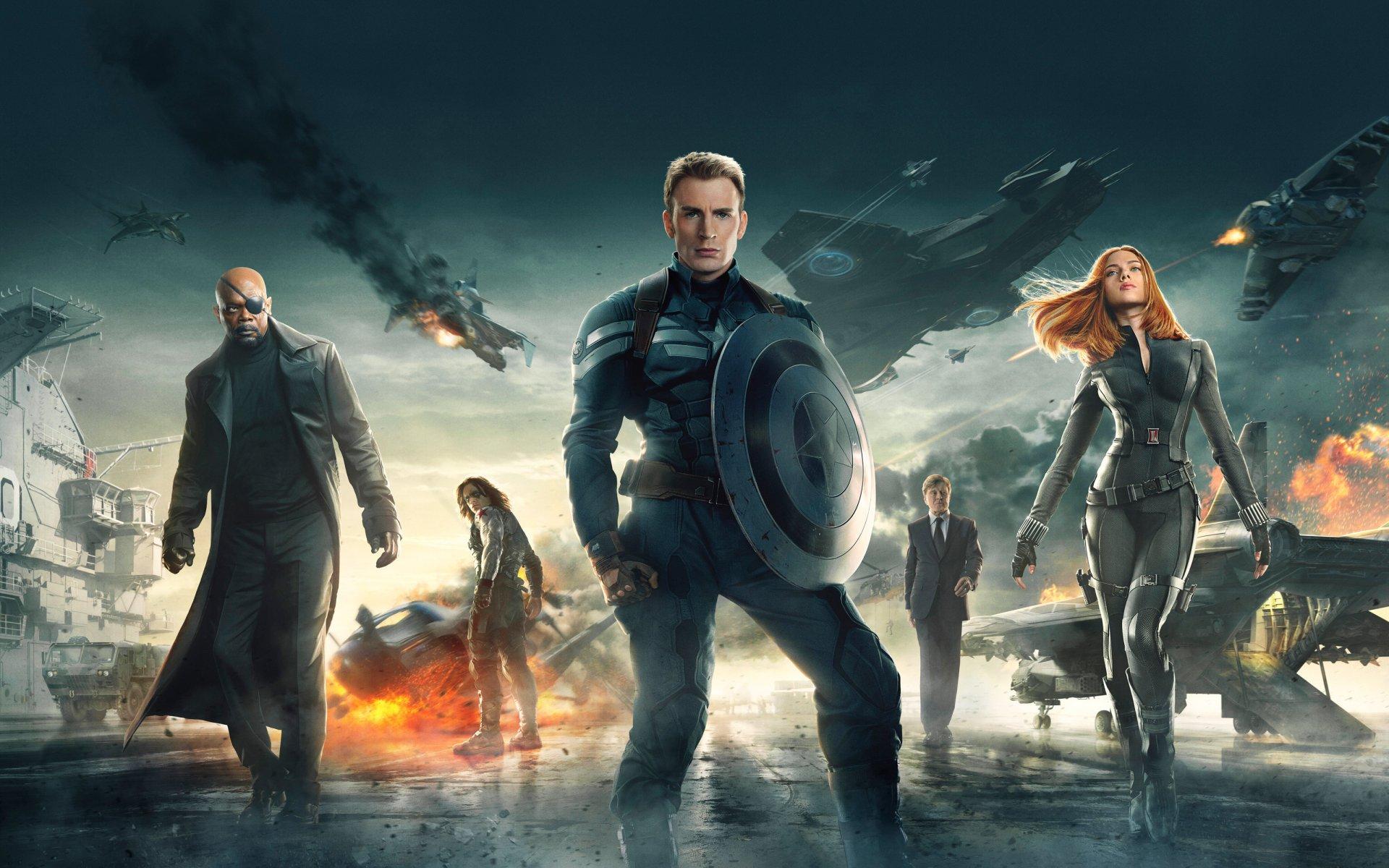 постер первый мститель зимний солдат
