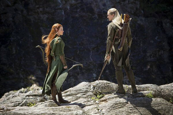 The Hobbit or There and Back Again The Hobbit: The Desolation of Smaug Orlando Bloom Evangeline Lilly Legolas Tauriel elves forest Mirkwood Хоббит или Туда и Обратно Хоббит: Пустошь Смауга Орландо Блу