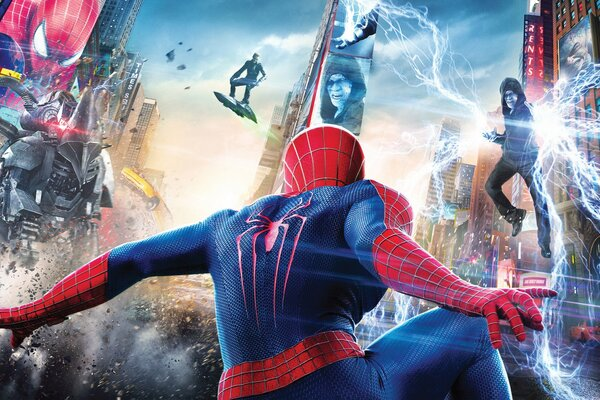 EXCLUSIVE The Amazing Spider-Man 2 The Amazing Spider-Man 2 Movie Film 2014 Year Andrew Garfield Peter Parker Spider Man SpiderMan Paul Giamatti Rhino The Rhino Jamie Foxx Electro Max Dillon Dane DeHa