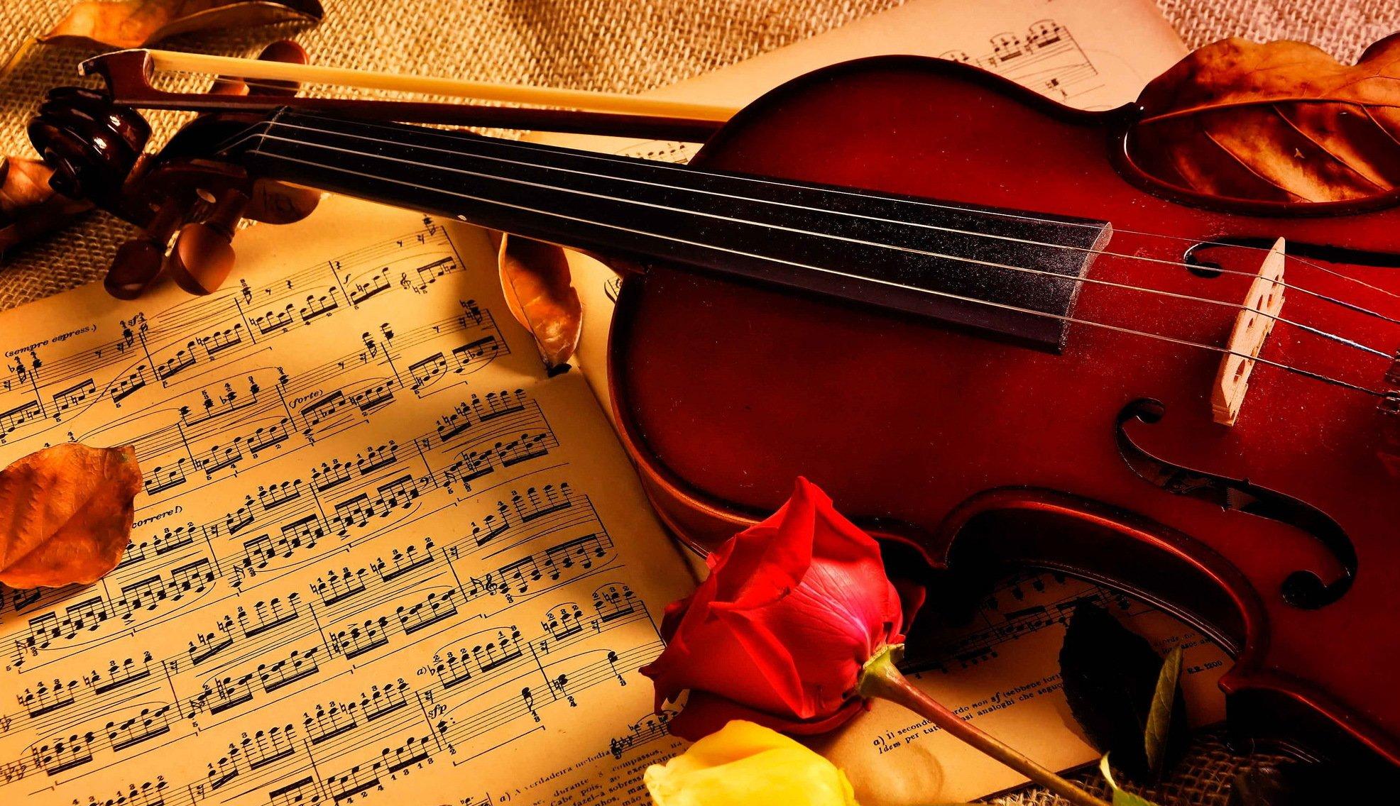 Открытки с музыкальными инструментами и цветами, картинки надписями