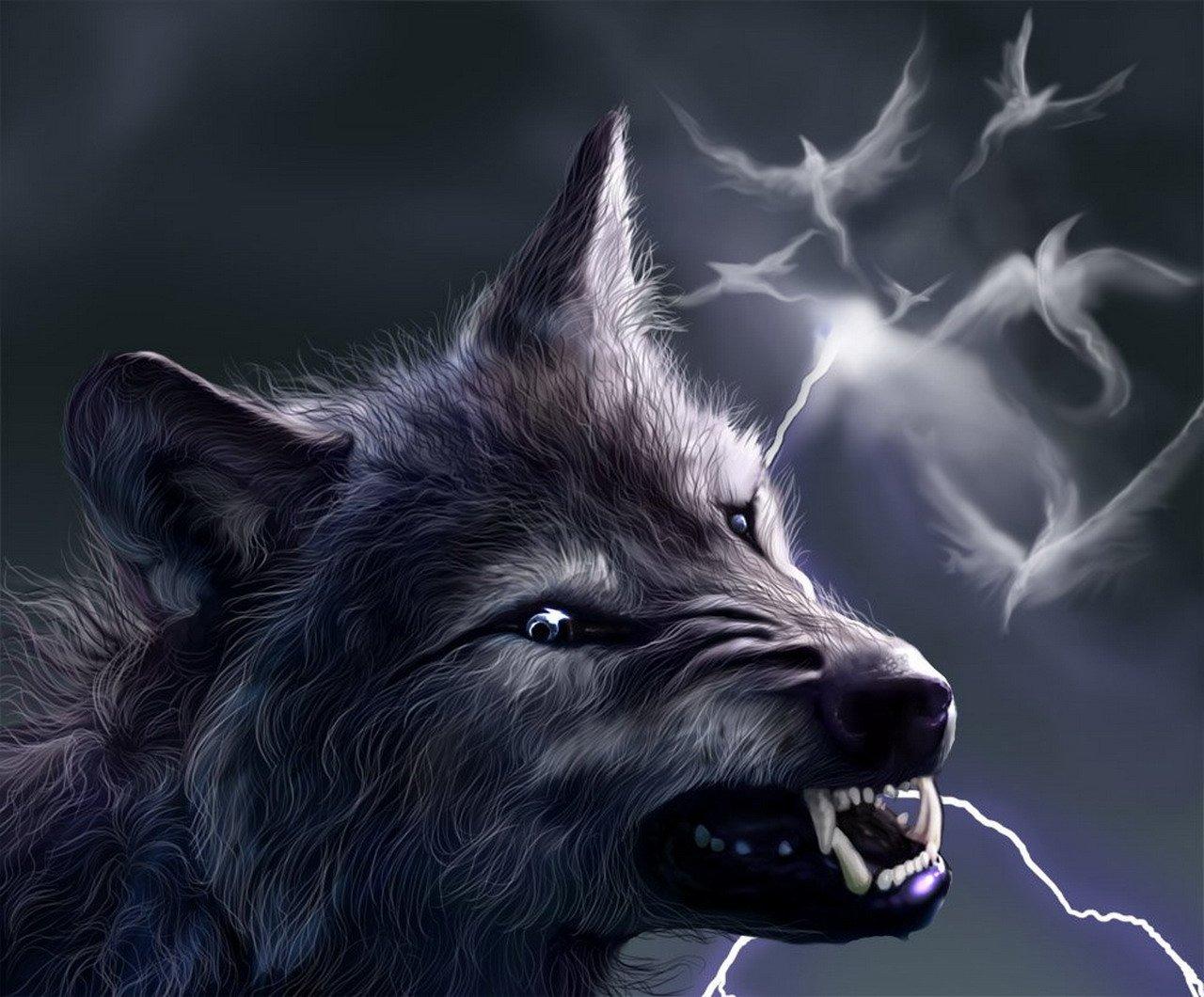 картинки скалившихся волков