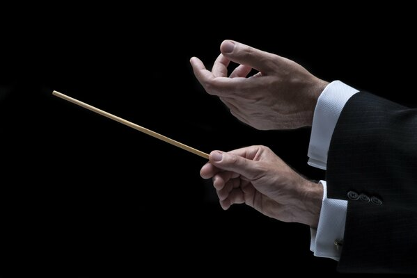 orchestra hands Conductor