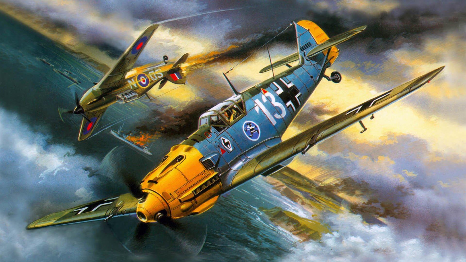 Обои подбитый, советский, самолеты, истребитель. Авиация foto 16