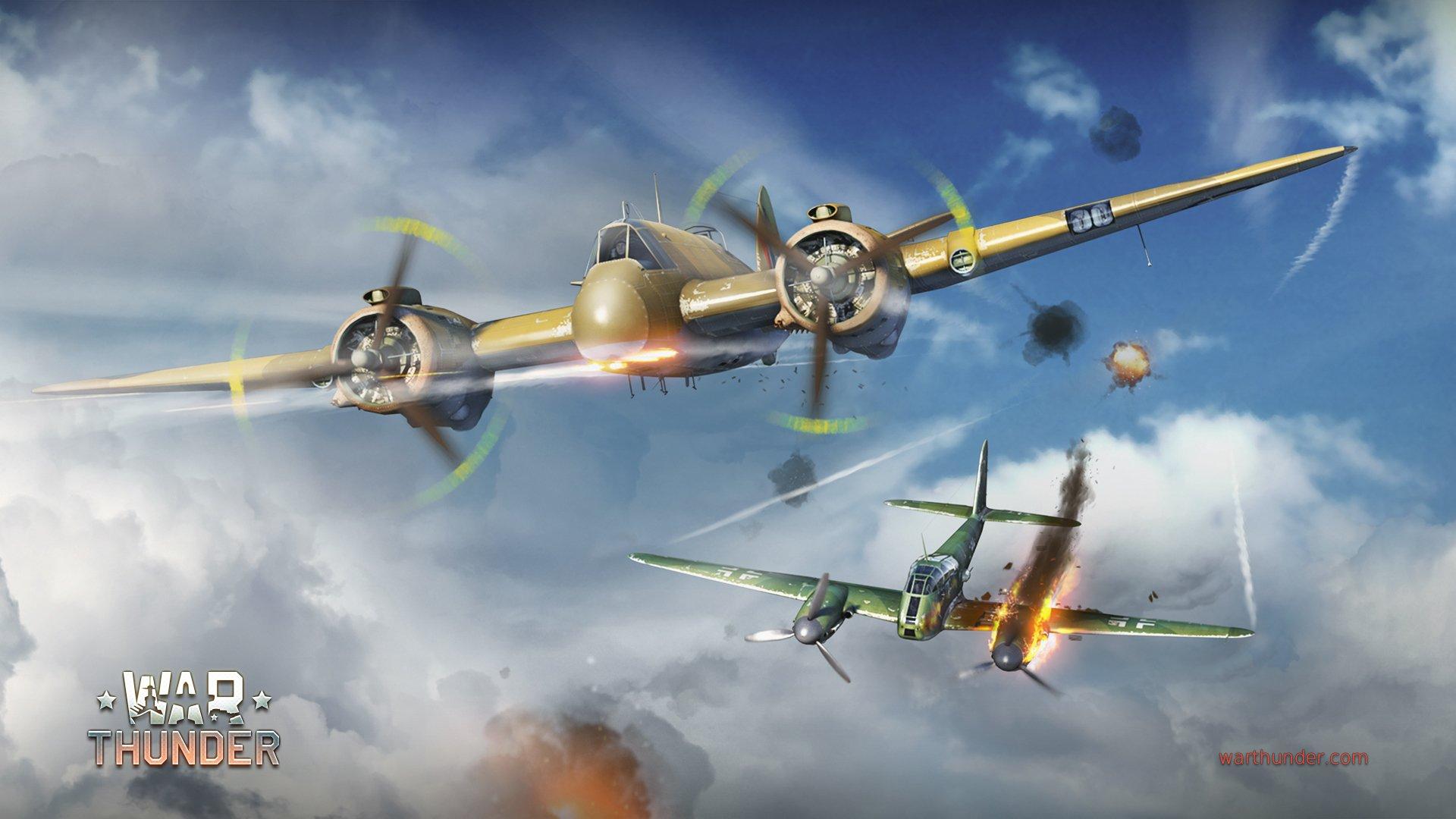 Обои Ме-410, war thunder, Самолёт, истребитель, война, Облака. Игры foto 7