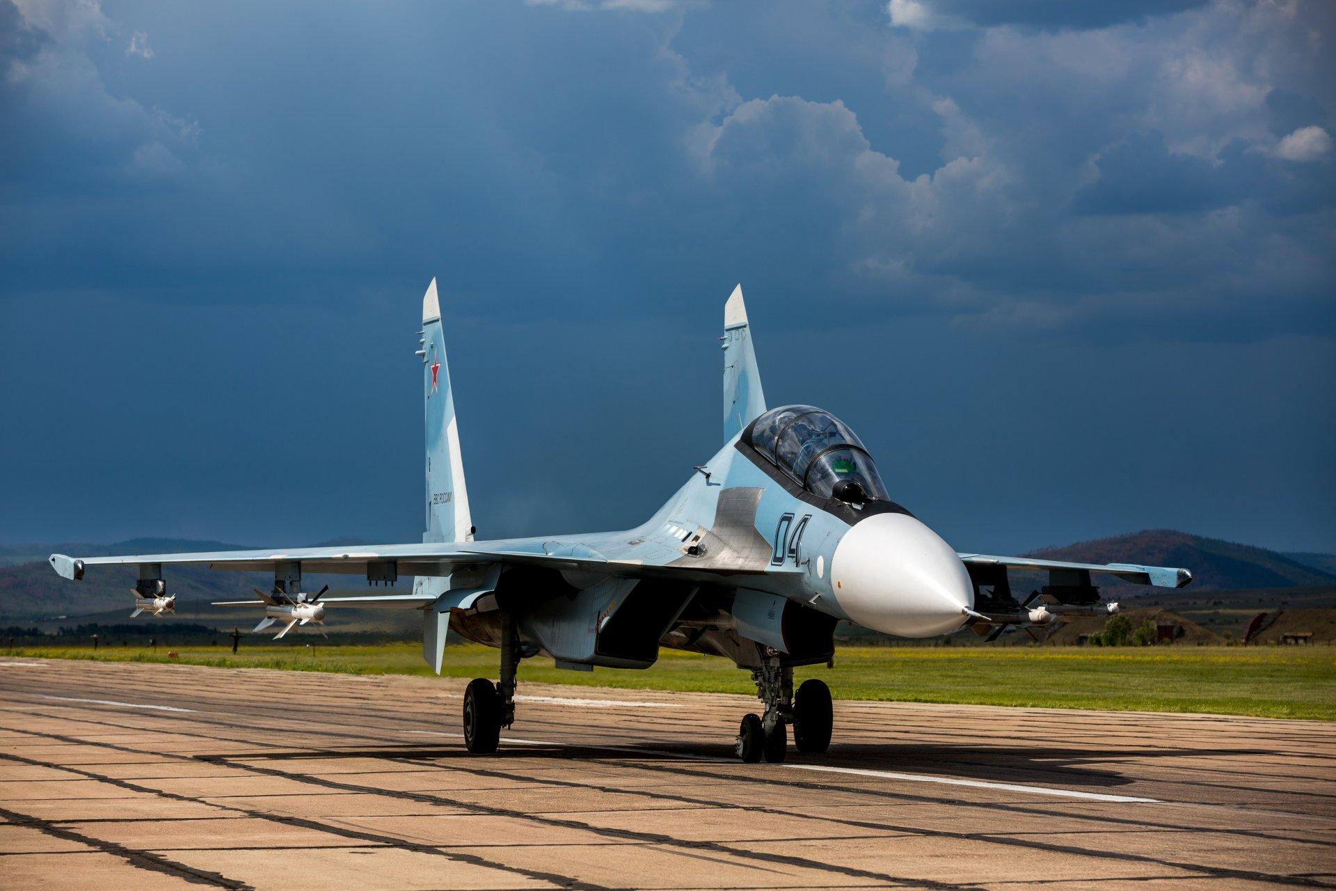 Обои Су-30см, двухместный, многоцелевой, российский. Авиация foto 9