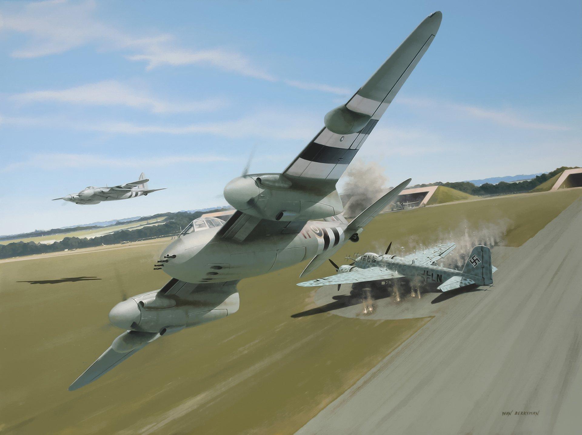 Обои De havilland mosquito, британский многоцелевой бомбардировщик. Авиация foto 13