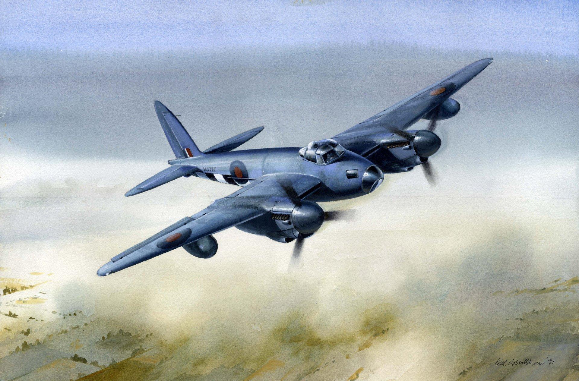 Обои De havilland mosquito, британский многоцелевой бомбардировщик. Авиация foto 9