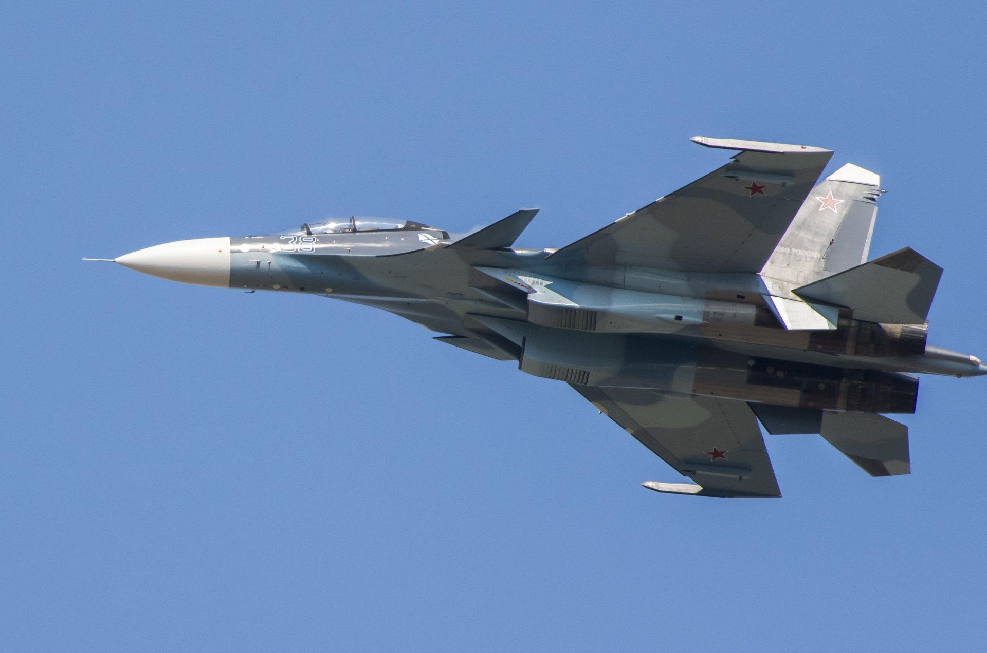 Обои Су-30см, двухместный, многоцелевой, российский. Авиация foto 8