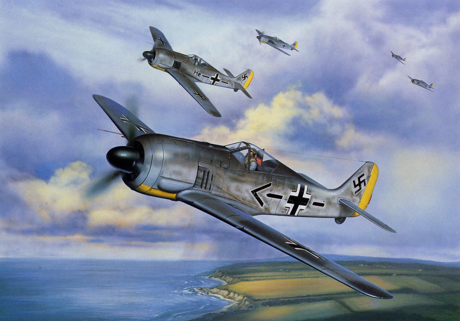 Обои войны, bf.109, мировой, Fw-190, истребители, второй. Авиация foto 10