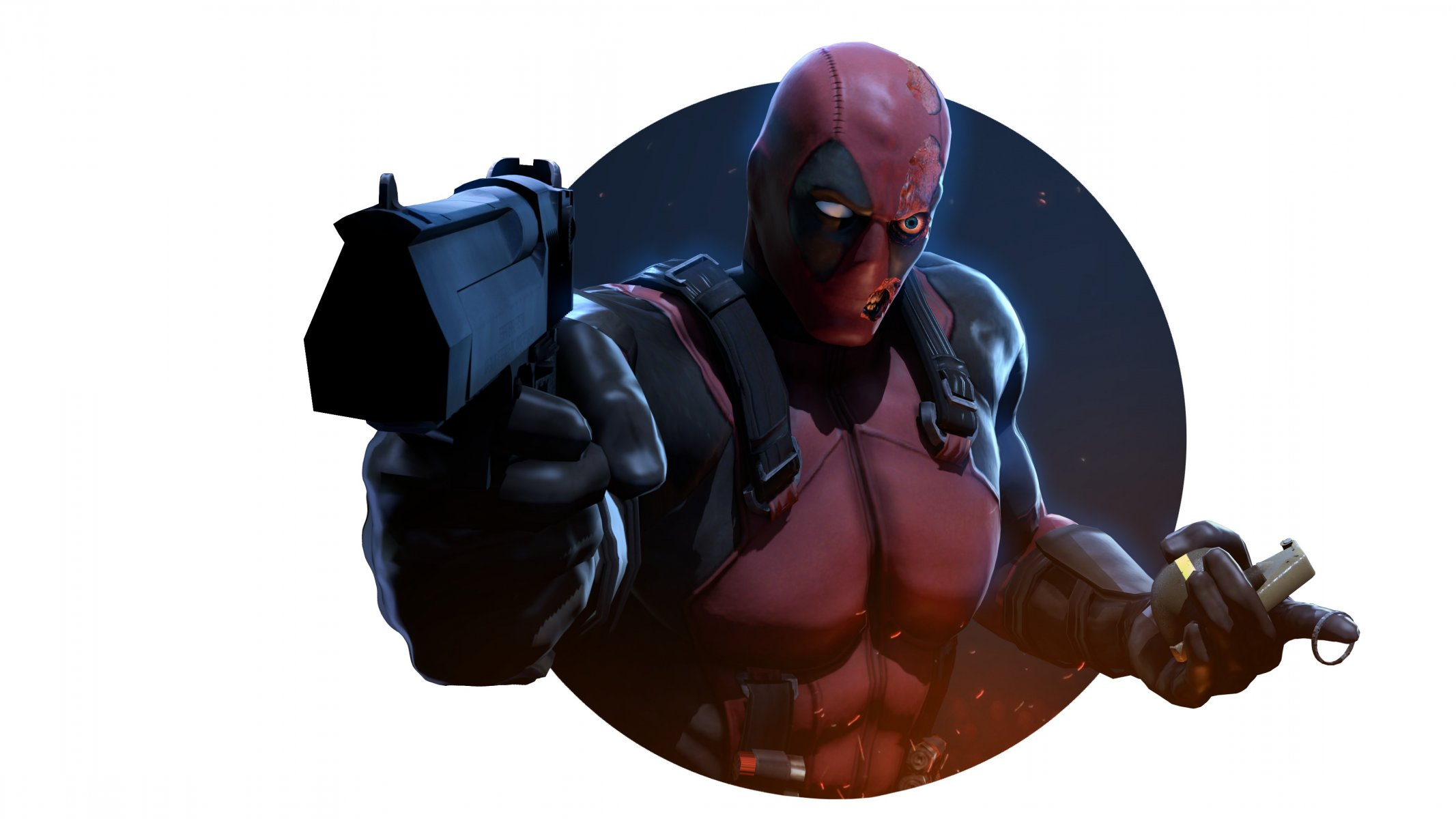 Обои пистолет, маска, Deadpool. Фантастика foto 14