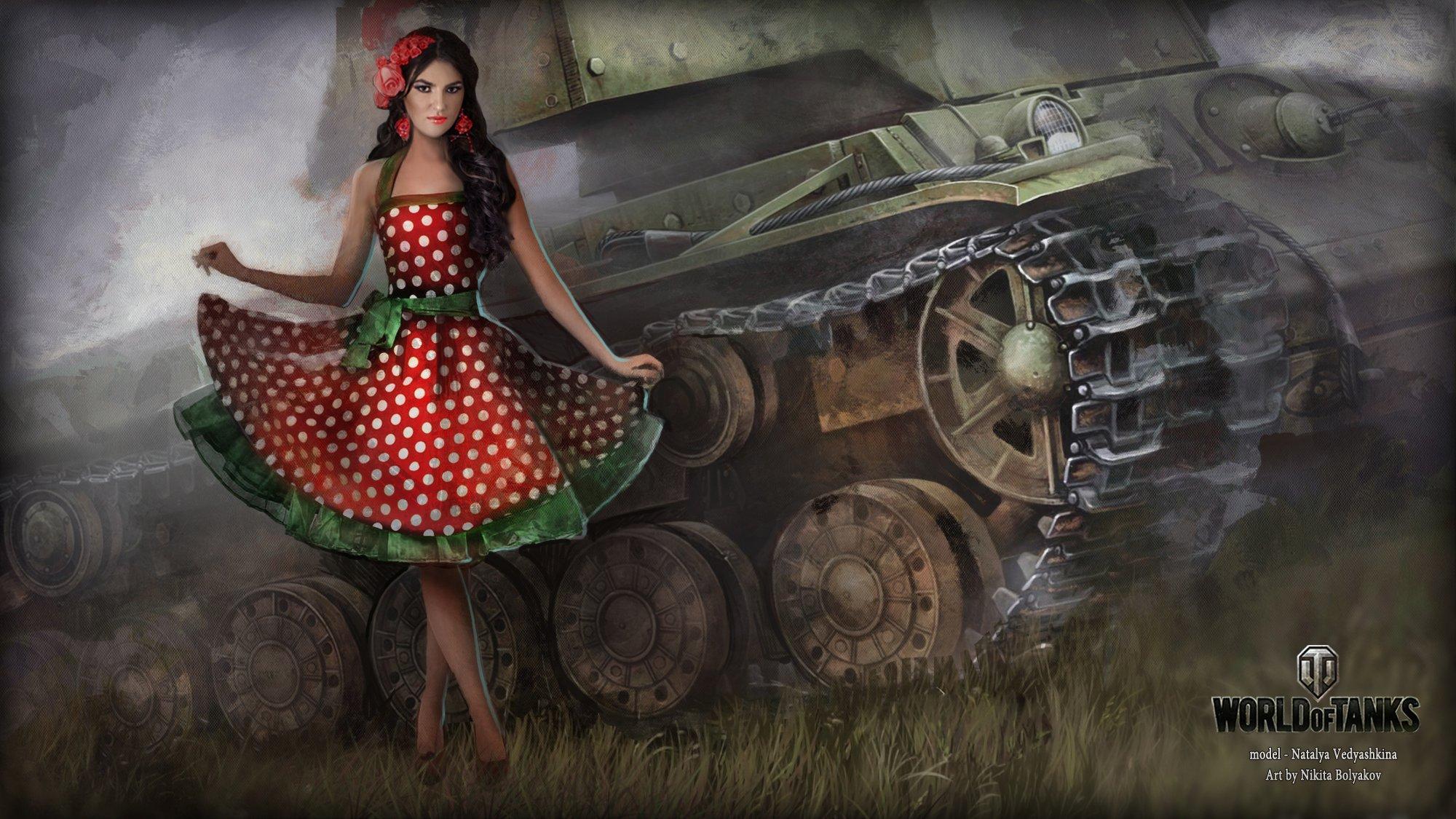 обои на рабочий стол танки world of tanks девушки № 204936 загрузить