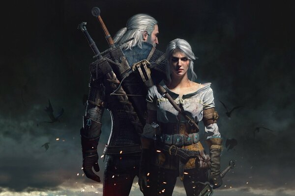 The Witcher 3: Wild Hunt Ведьмак 3: Дикая Охота CD Projekt RED Ведьмак The Witcher Geralt Геральт Цири Арт