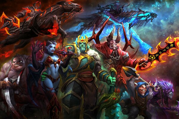 Dota 2 Wraith King Ostarion Abaddon Dazzle Chaos Knight Shadow Priest Meepo Pudge Butcher Geomancer Lucifer Doom Akasha Queen of Pain wei-zi арт