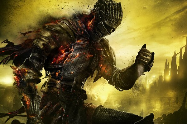 dark souls 3 воин рыцарь латы доспехи дыры небо namco bandai games from software