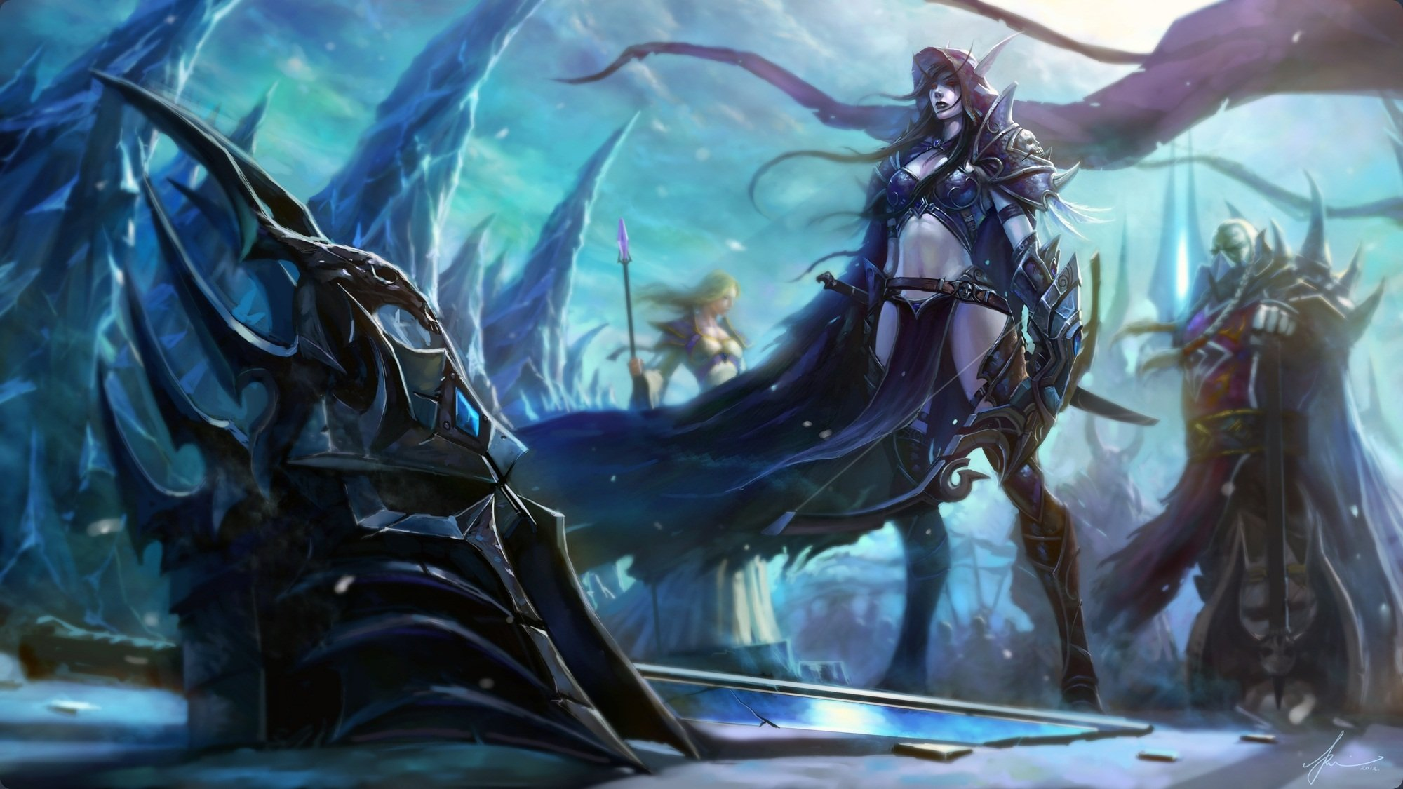 Download sleeping Lady Sylvanas and Jaina Proudmoore  xxx images