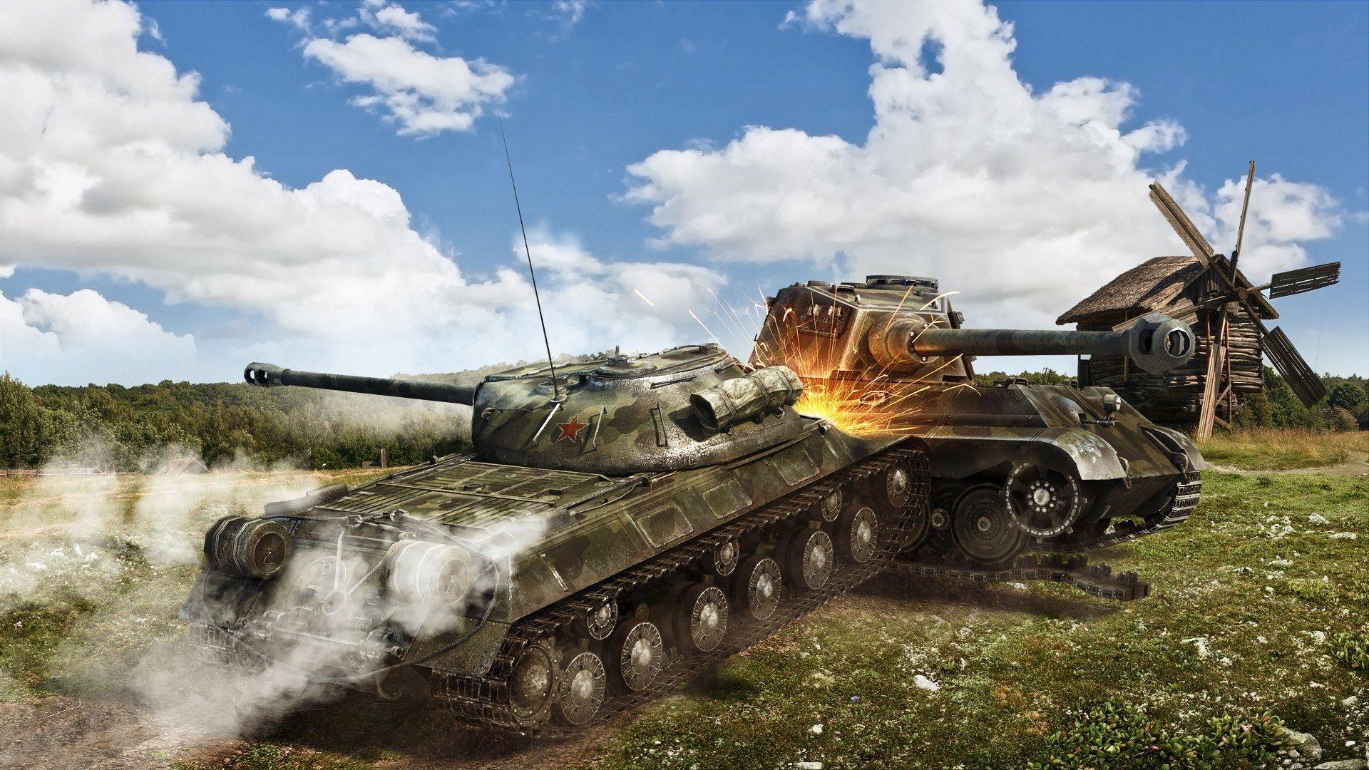 Обои тигр танк на рабочий стол 4