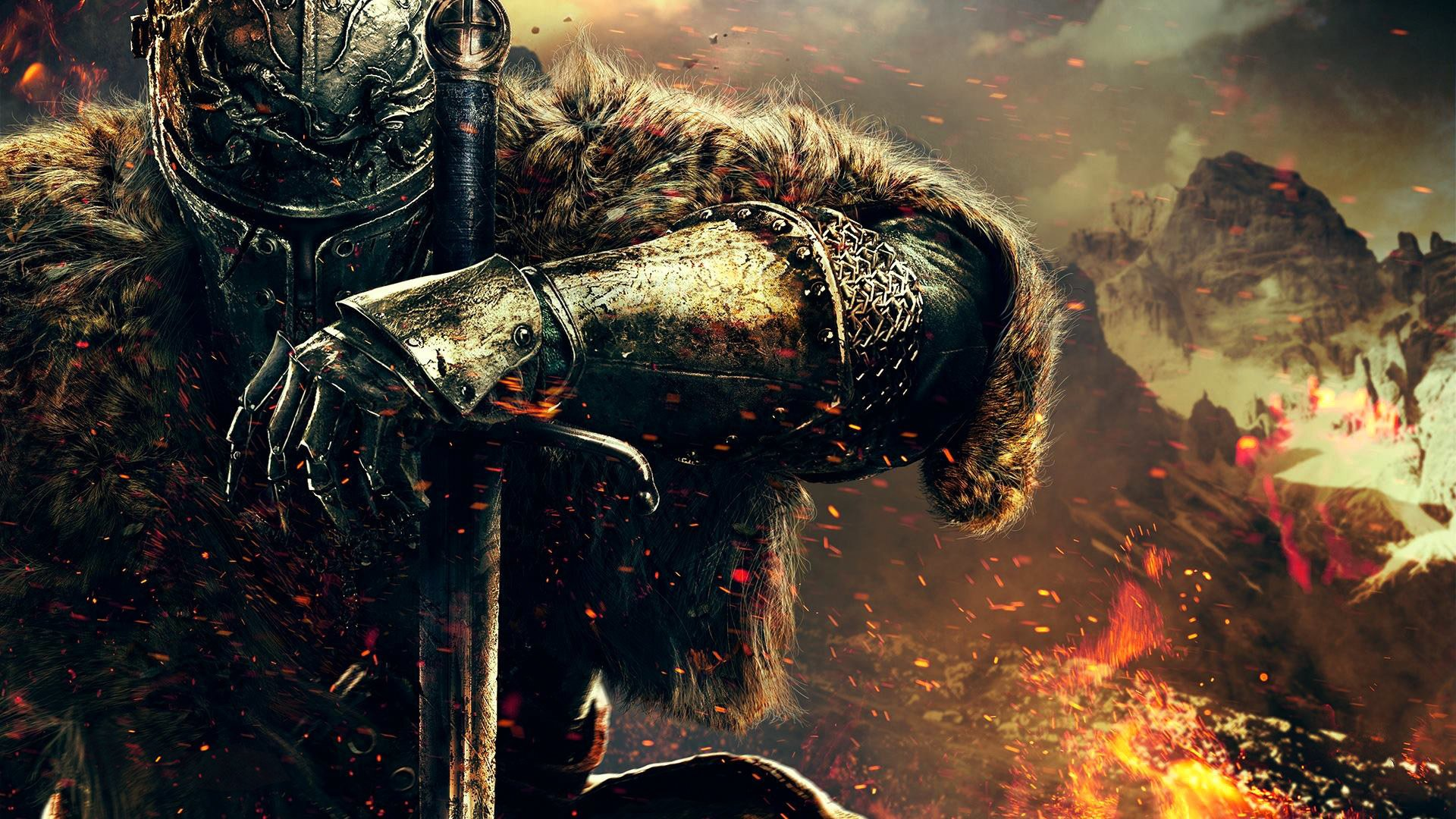dark souls ii dark souls 2 воин рыцарь шлем броня мех рука from software namco bandai games