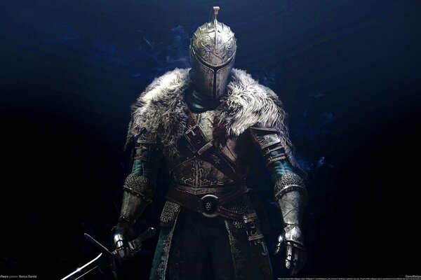 Dark Souls 2 warrior armor knight game background
