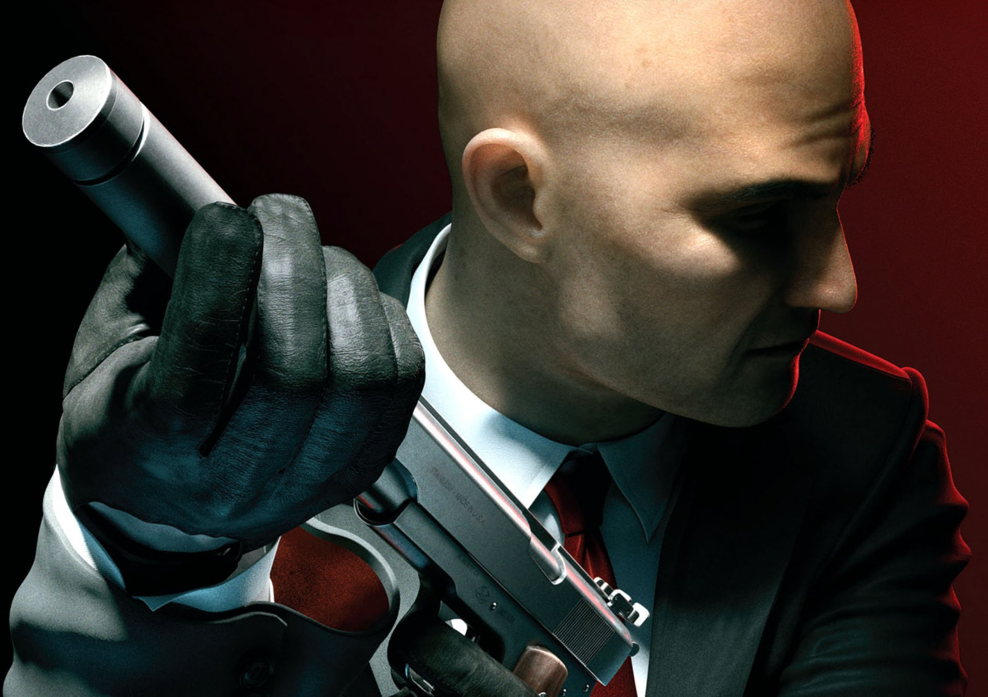 Обои костюм, мужчина, пистолет, глушитель. Разное foto 14