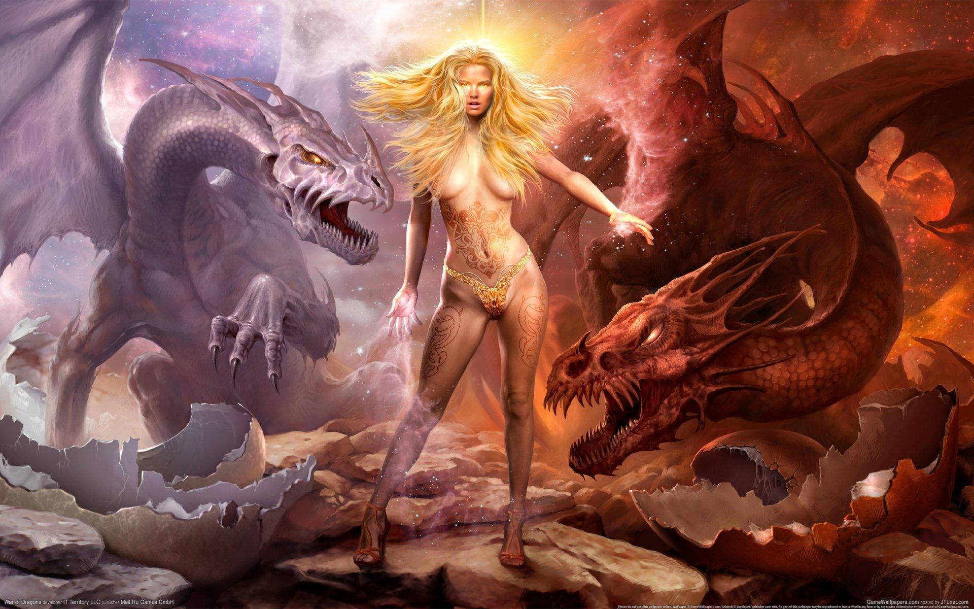 Дракон девушка бесплатно