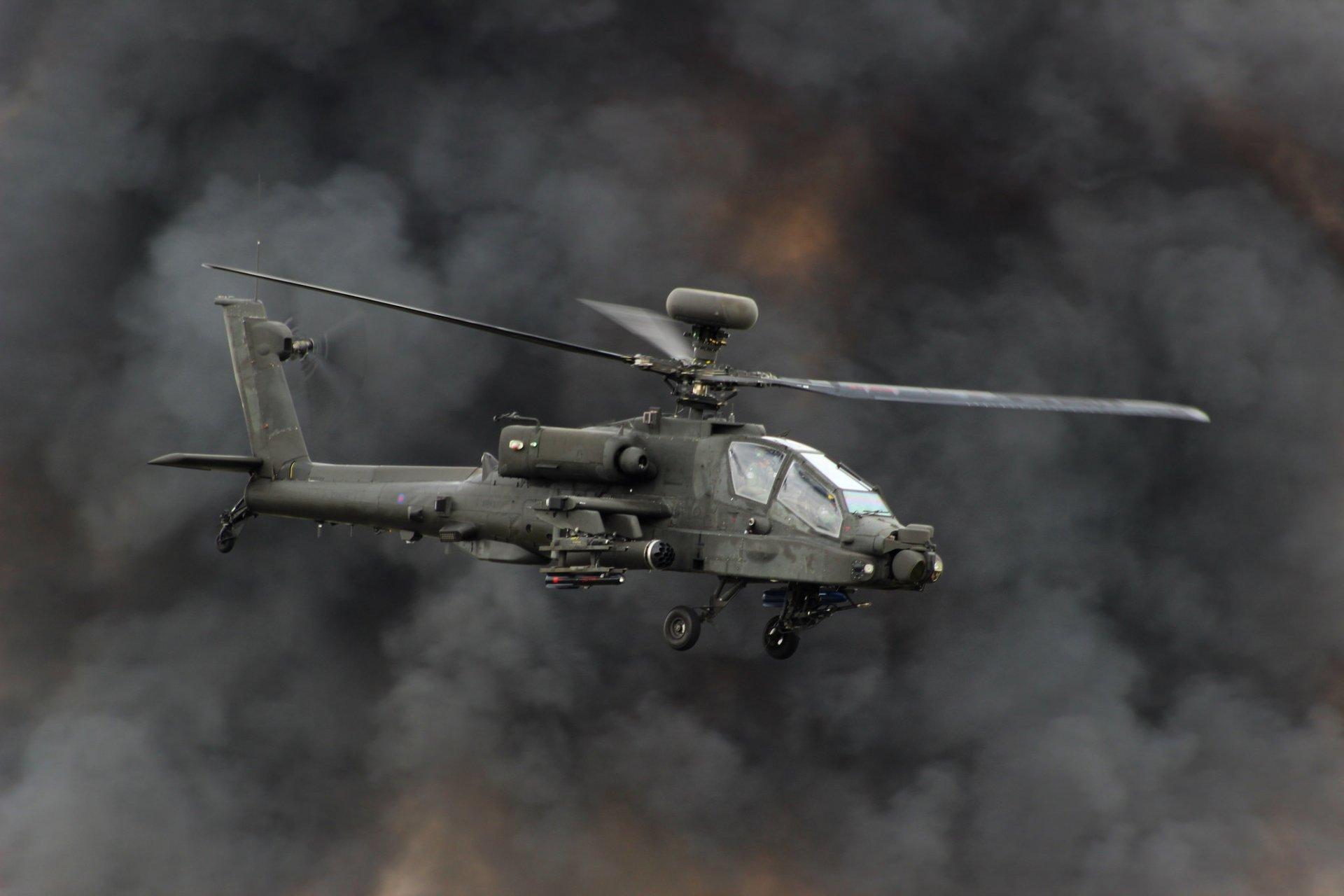 Обои ударный, Apache, дым, основной, «апач». Авиация foto 7