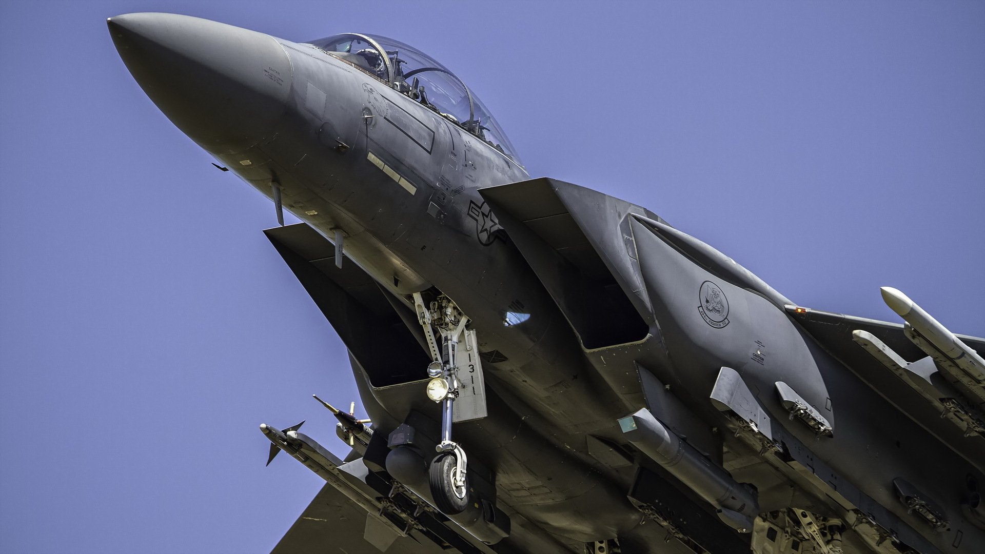 Обои вертикальный предел, F15 strike eagle, истребитель, высота. Авиация foto 9