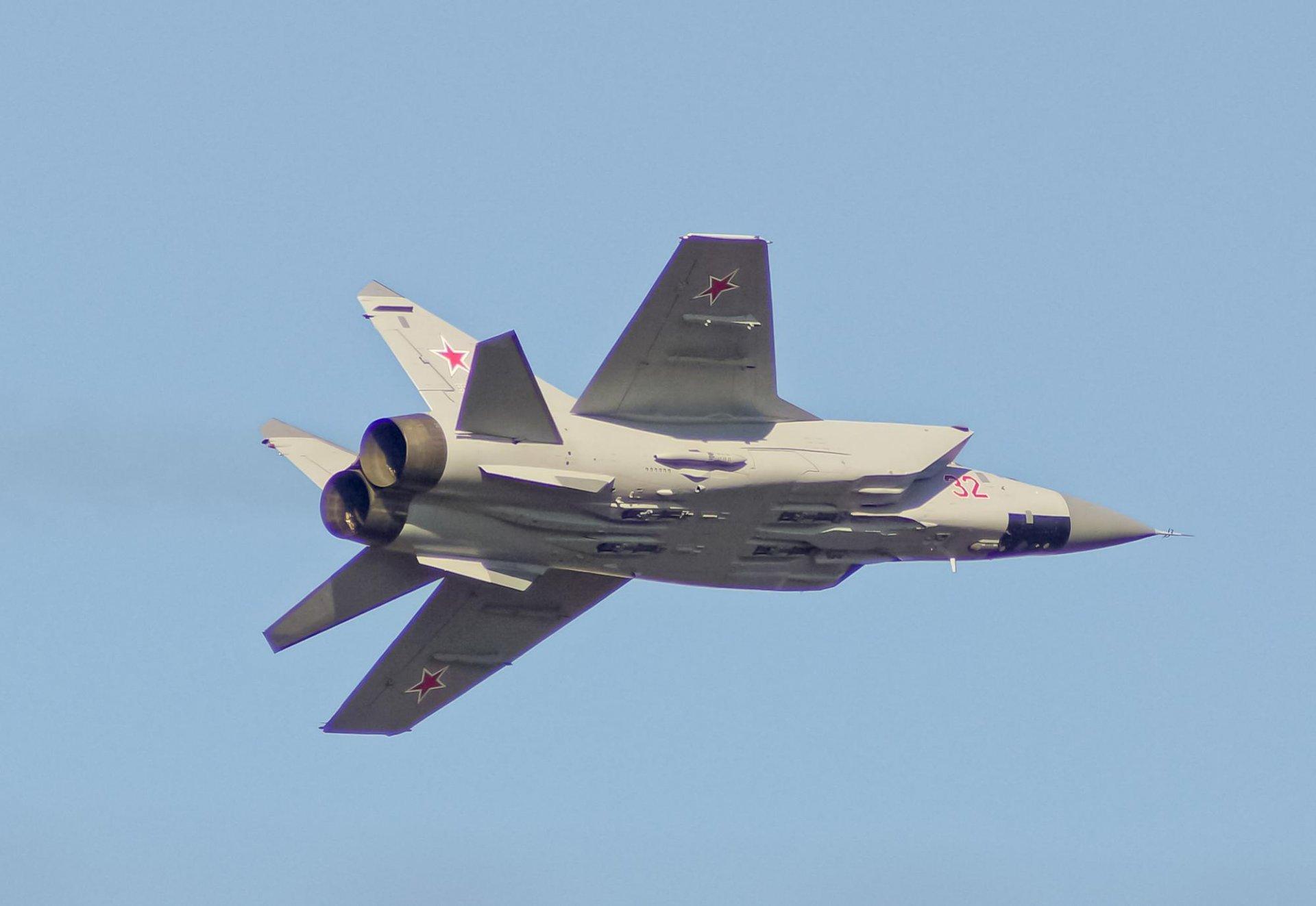 Обои ввс, миг-31, перехватчик, россии, истребитель, Самолёт. Авиация foto 19