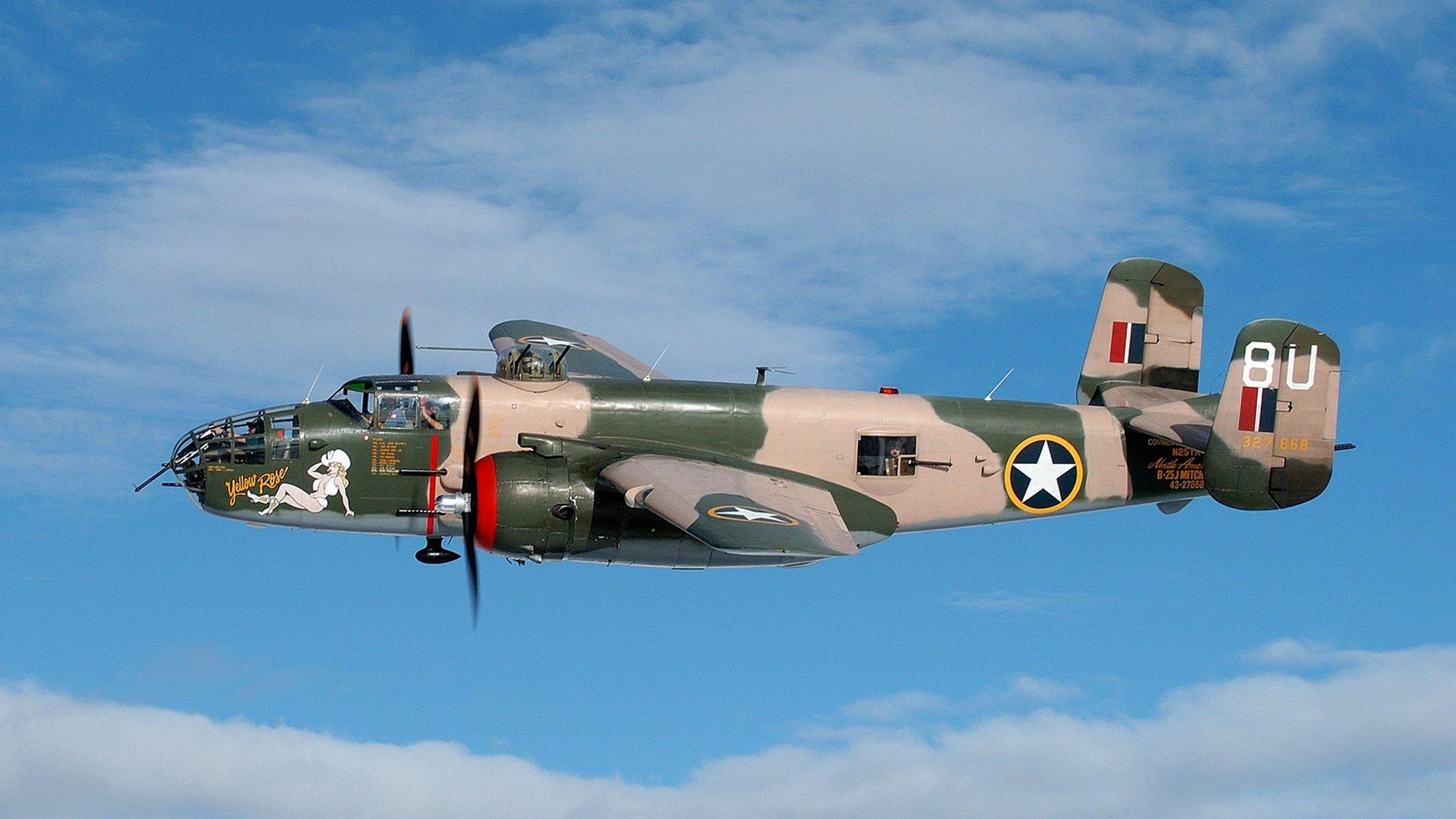 Обои North american, b-25, двухмоторный, американский, средний. Авиация foto 15