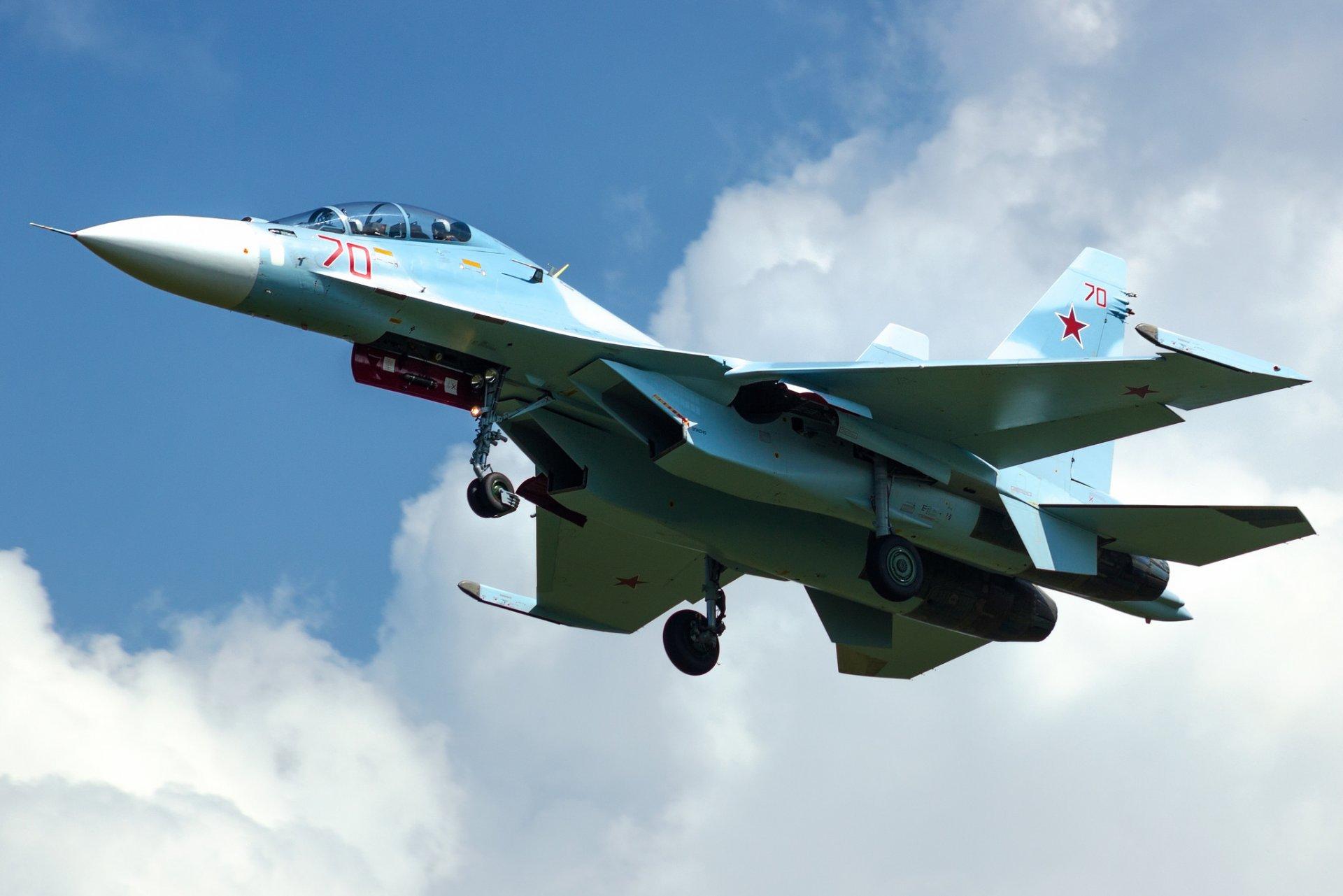 Обои многоцелевой, двухместный, Су-30м2, истребитель. Авиация foto 7