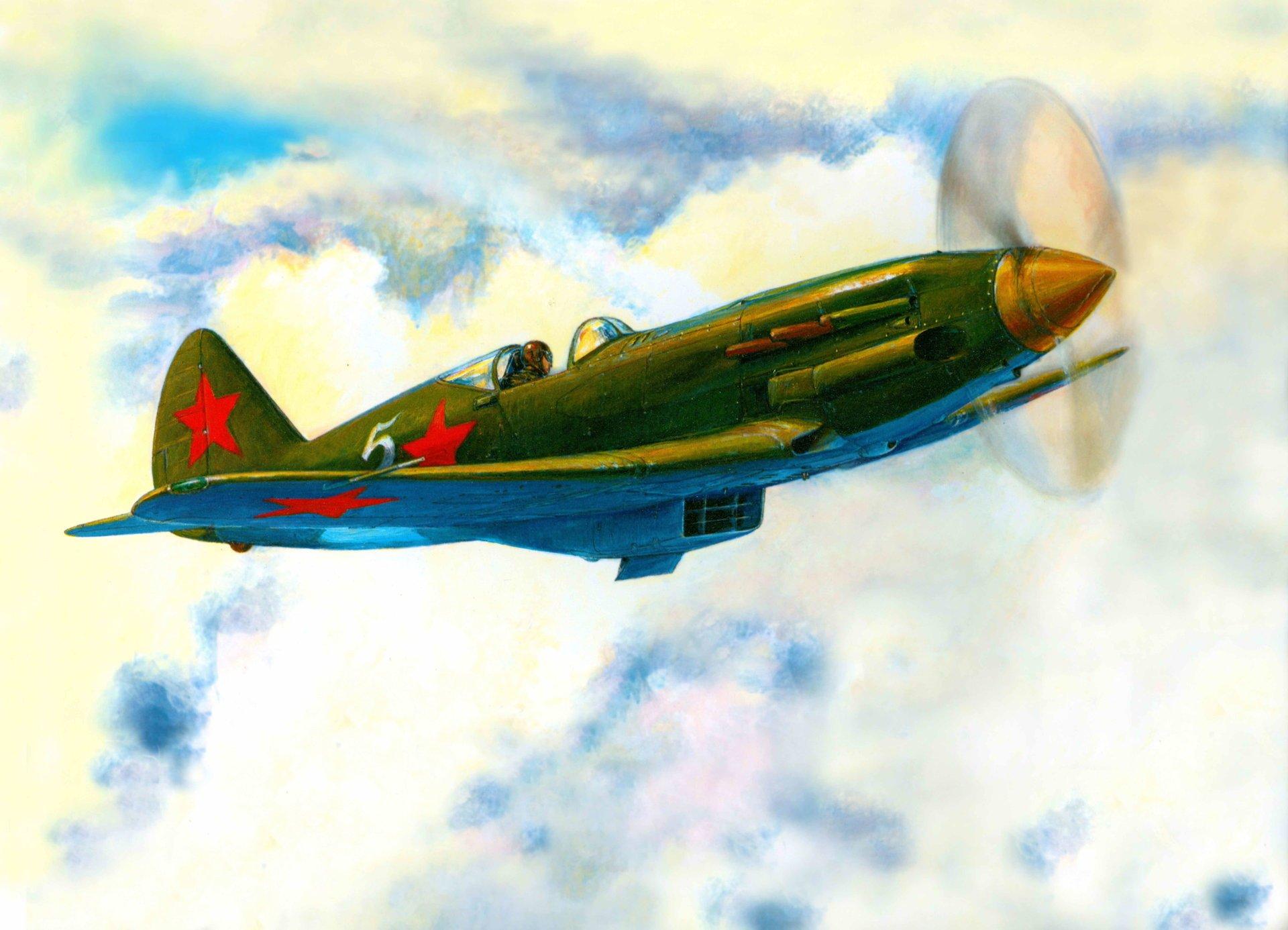 Обои истребитель, Миг-3, Облака, Самолёт. Авиация foto 10