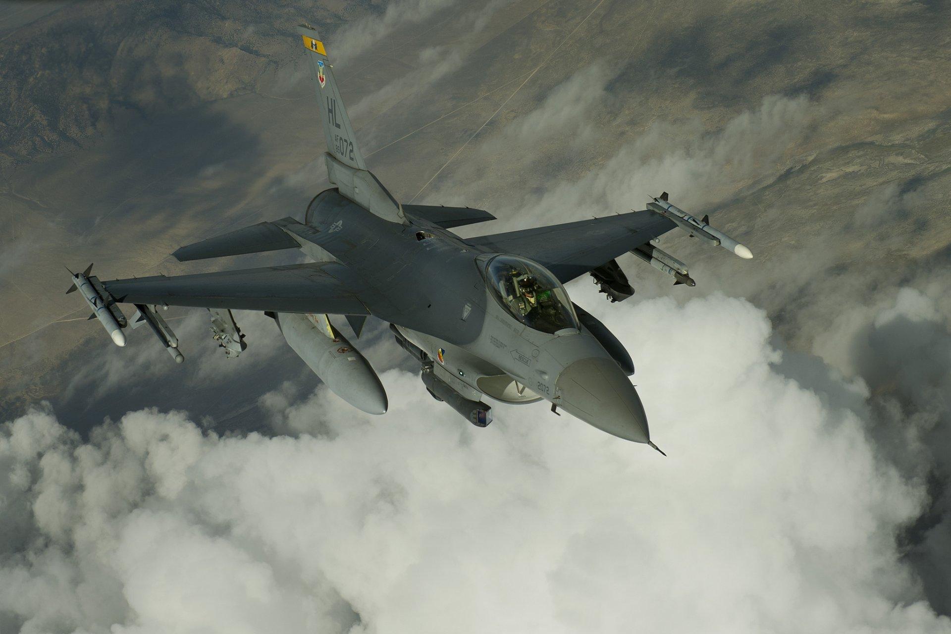 Обои fighting falcon, истребитель, F-16c, кабина. Авиация foto 19