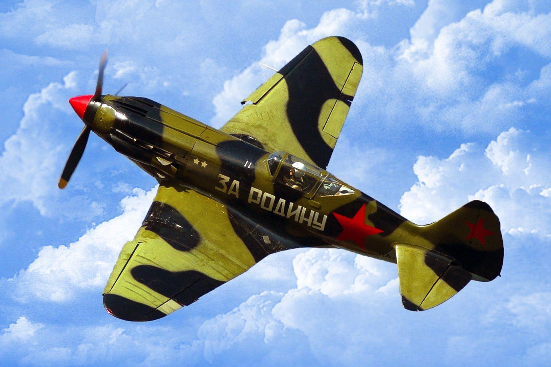 Обои истребитель, Миг-3, Облака, Самолёт. Авиация foto 12