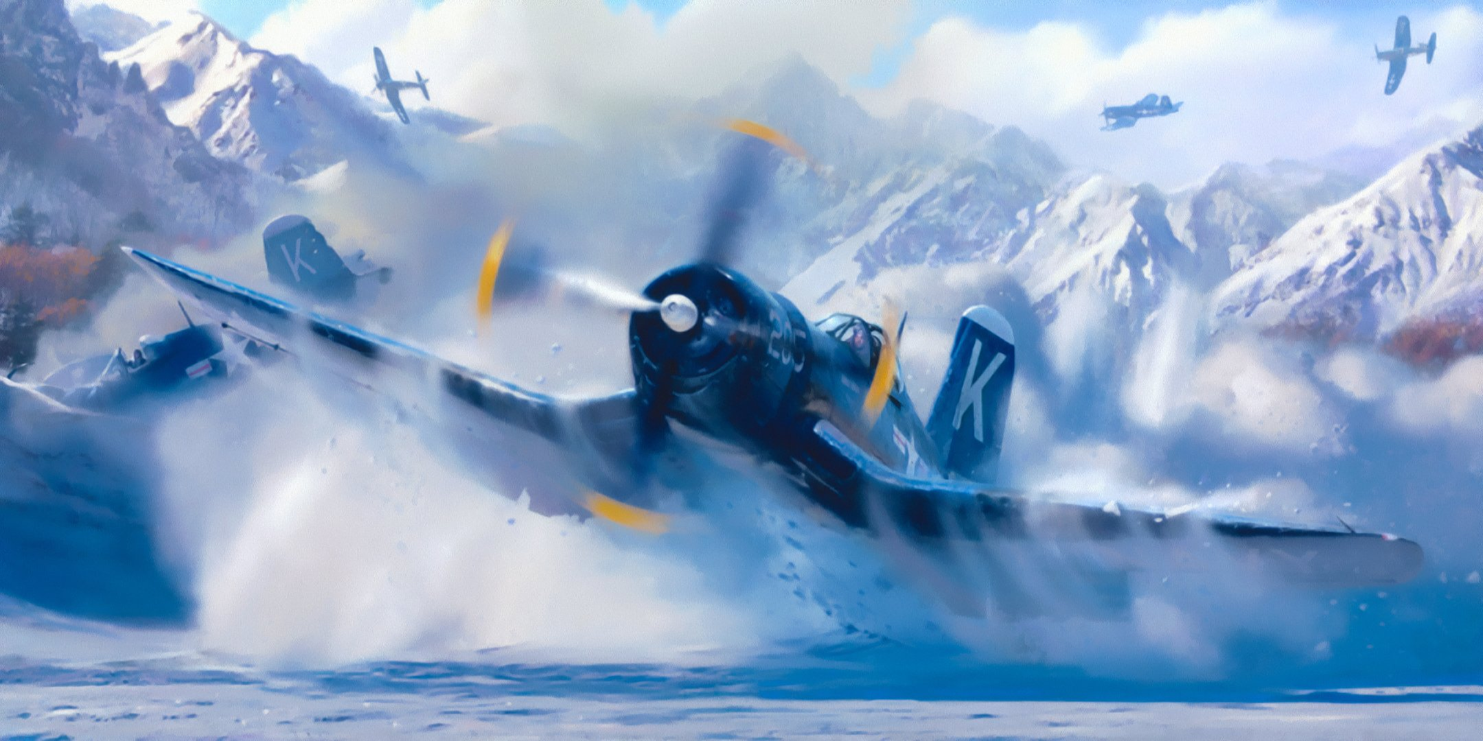 Обои Вторая мировая, F4u corsair, chance vought. Авиация foto 11