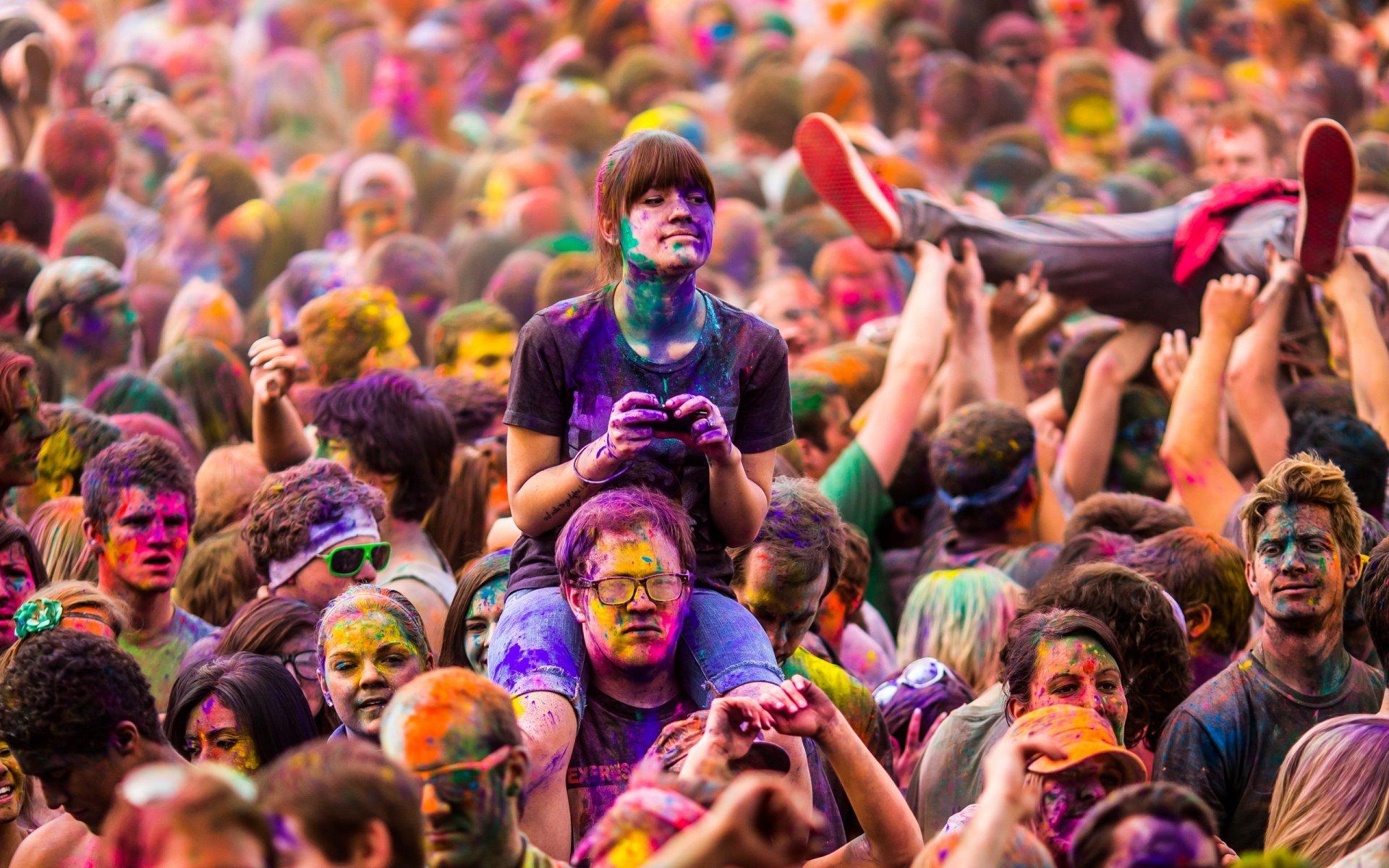 Смешные, картинка с разными цветами для людей