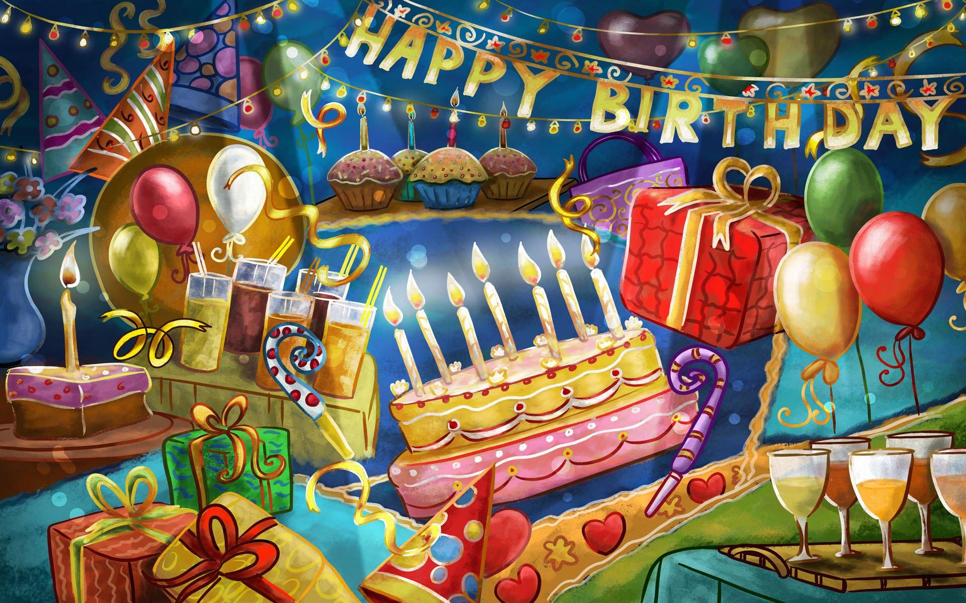 Миниатюра для поздравления с днем рождения