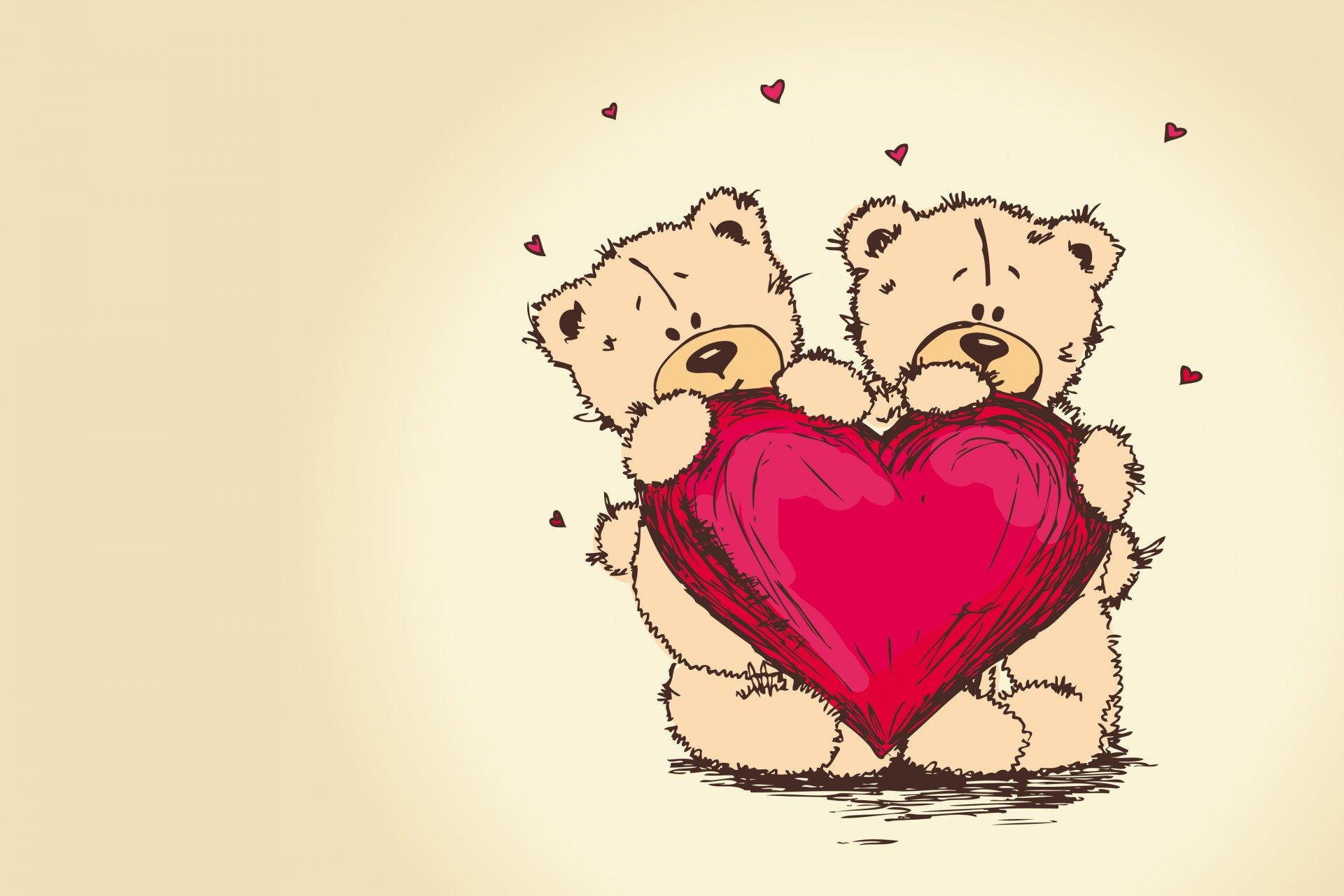 Картинки мишек с сердечками к дню святого валентина