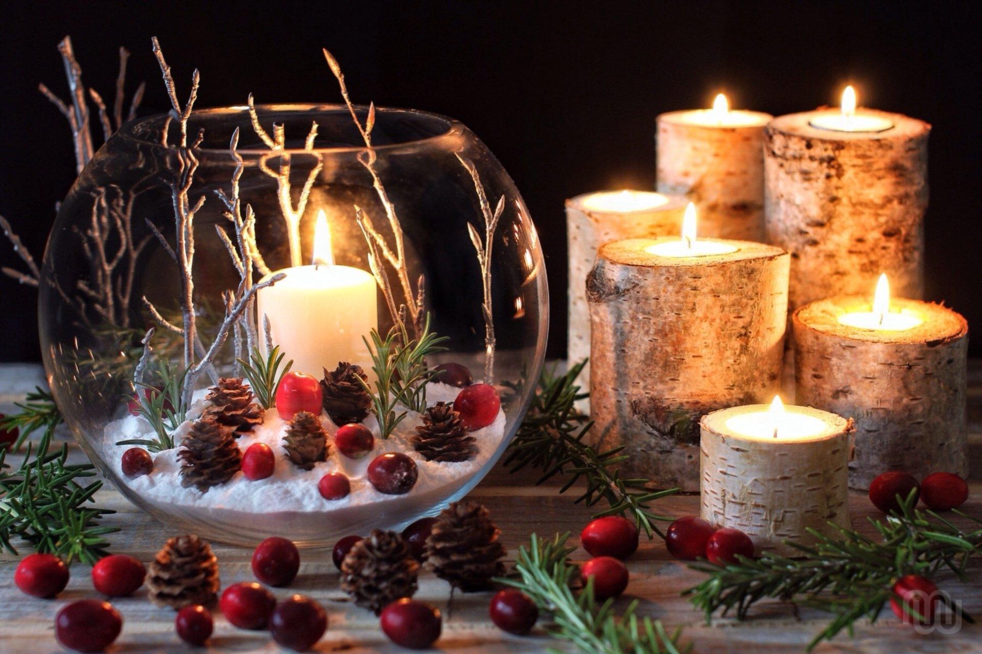 красивые картинки новогодних свечей голливуда
