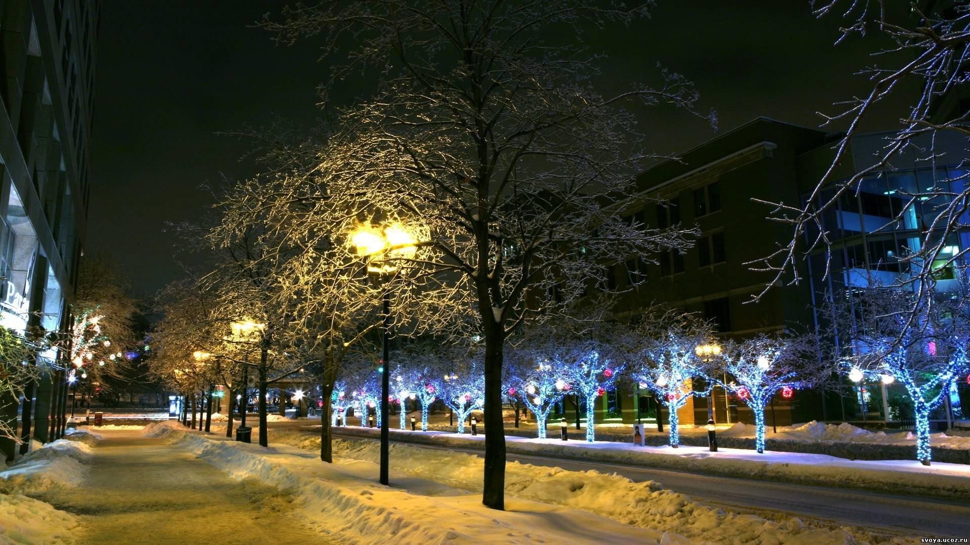 картинки вечерний город зимой