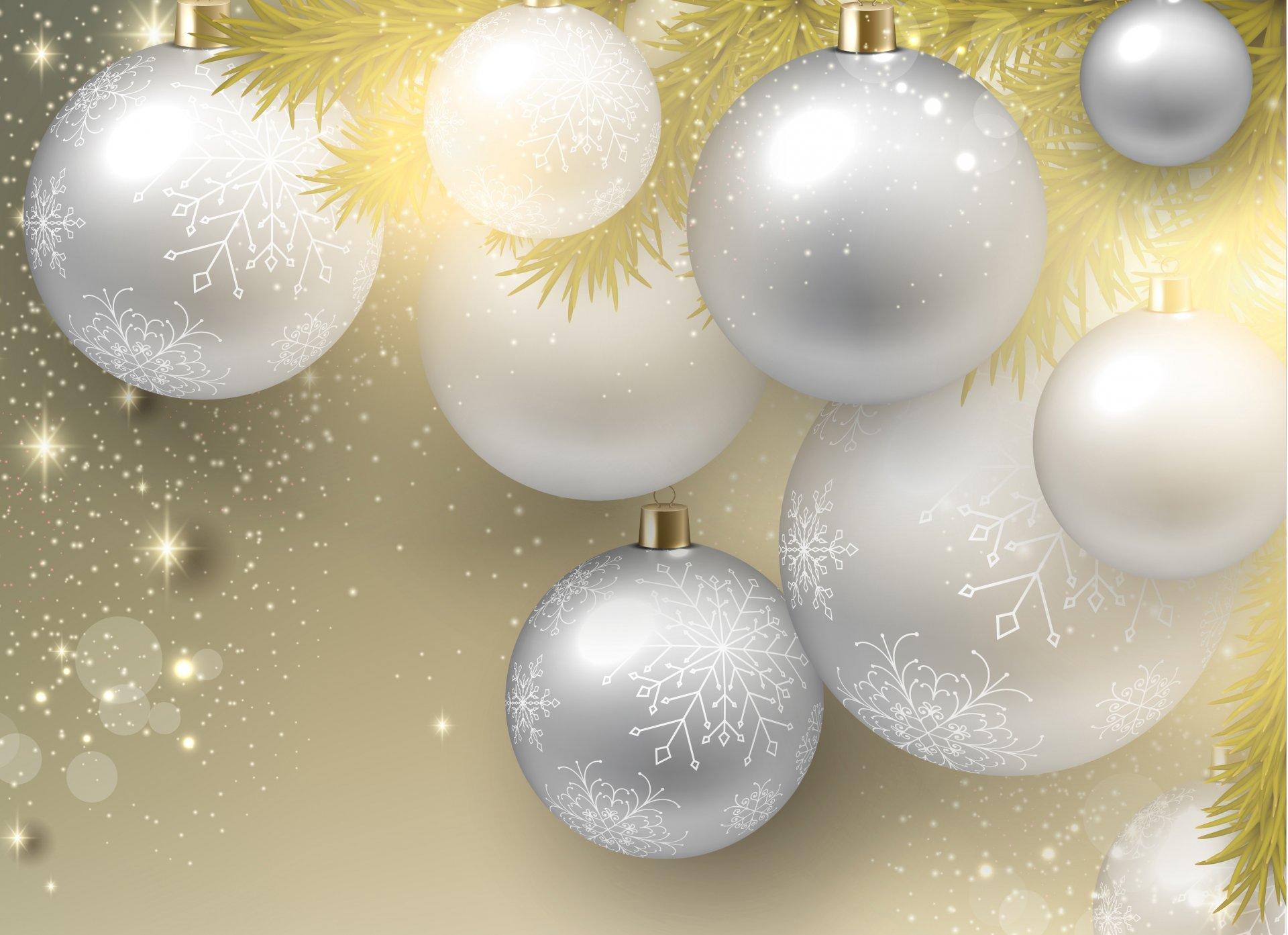 Новогодние открытки с шарами на елке