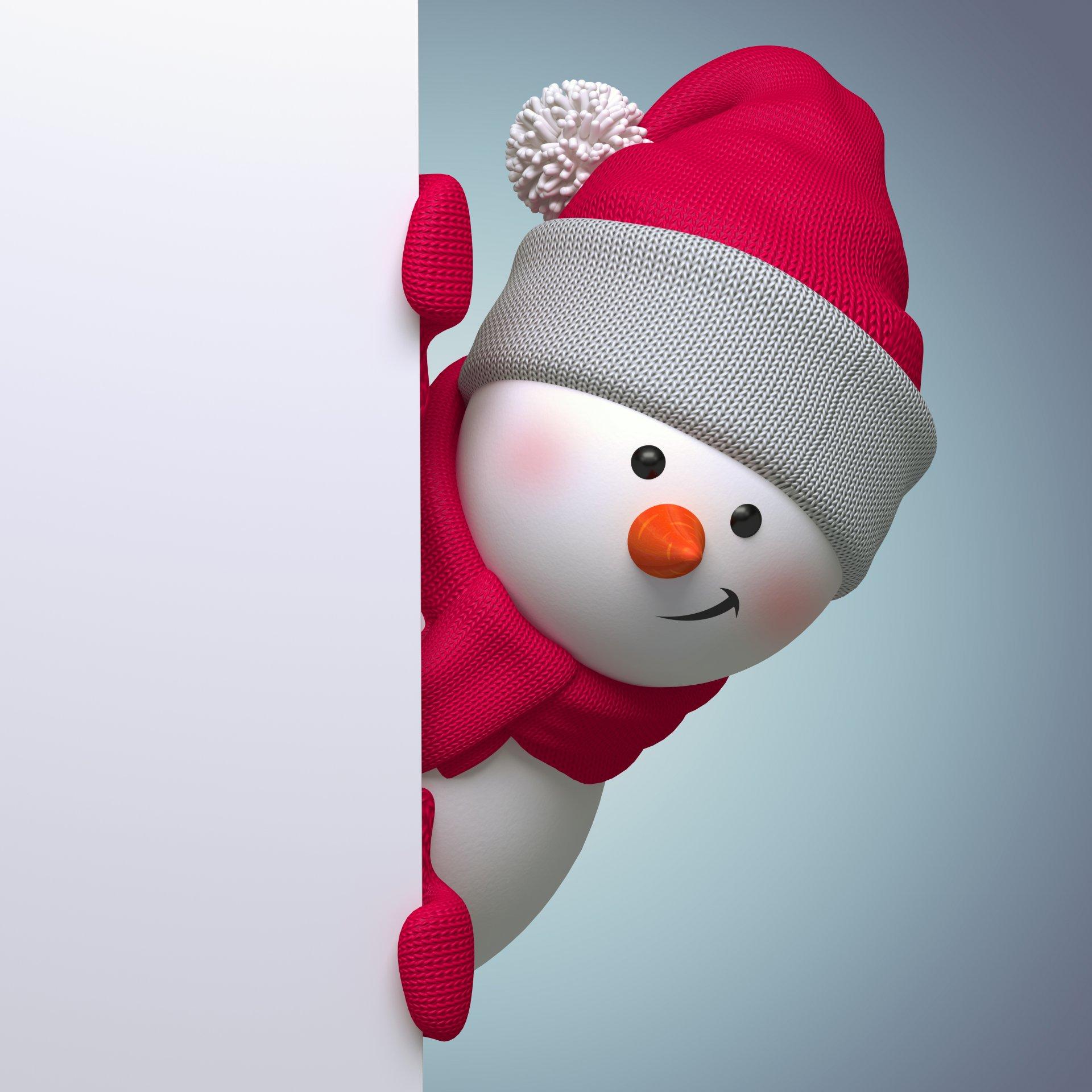 К новому году 2017 снеговик